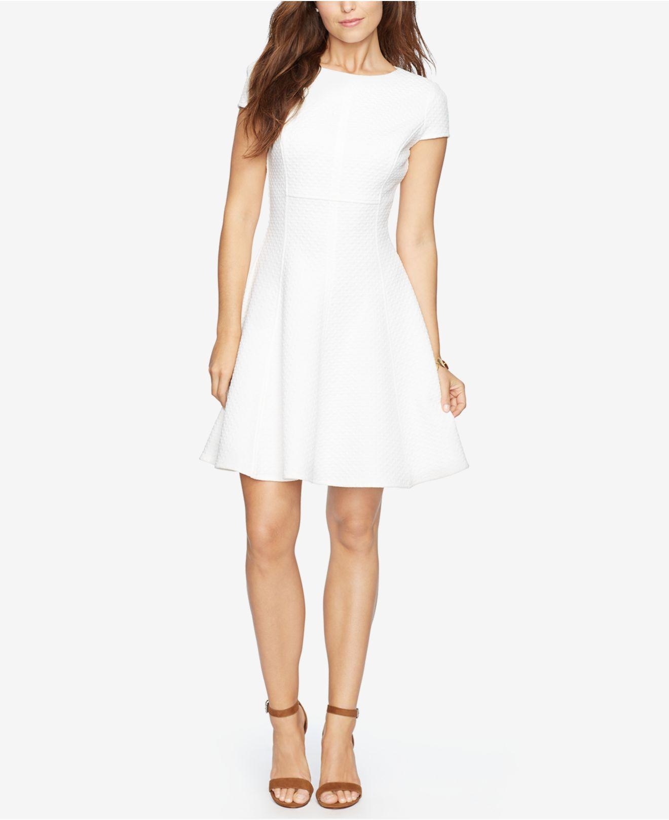 Lyst American Living Chevron Jacquard Dress In White