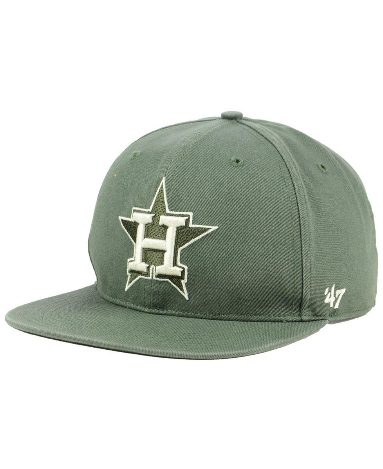 7a6fb8961a2 Lyst - 47 Brand Houston Astros Moss Snapback Cap in Green for Men