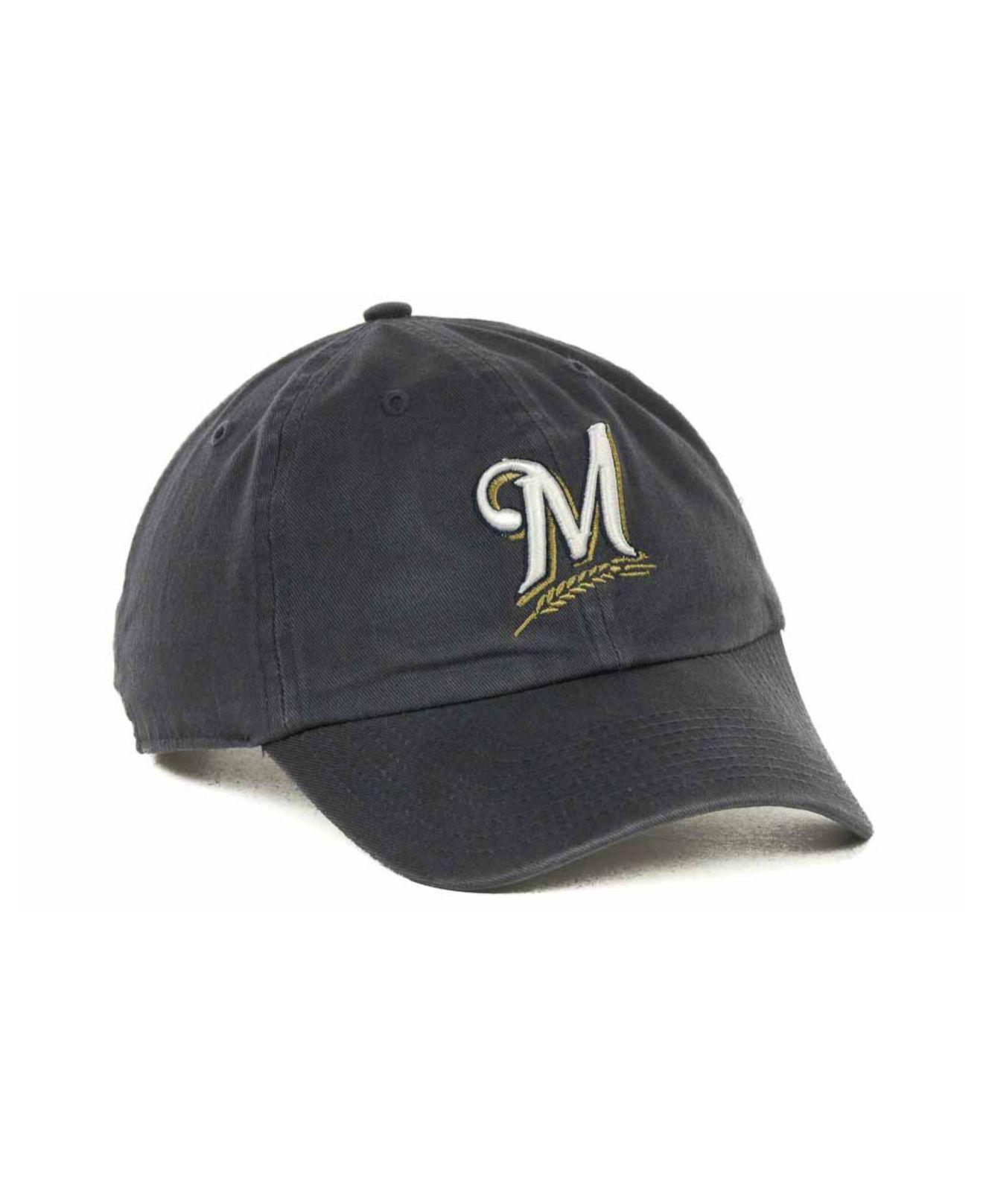 bd1cf84f25f ... cheapest 47 brand blue milwaukee brewers mlb clean up cap for men lyst.  view fullscreen