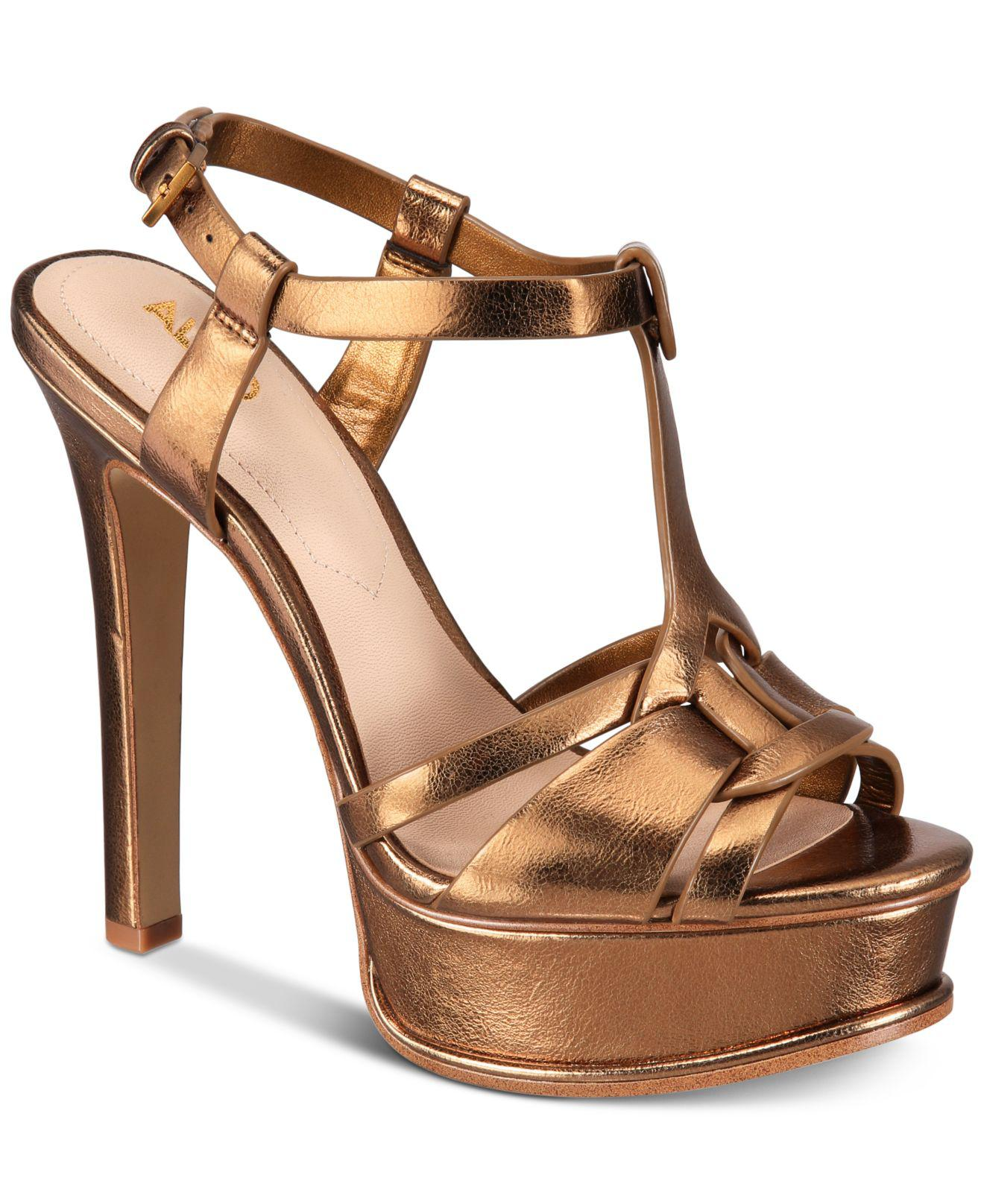 88c7fa4d345 Lyst - ALDO Chelly Platform Dress Sandals