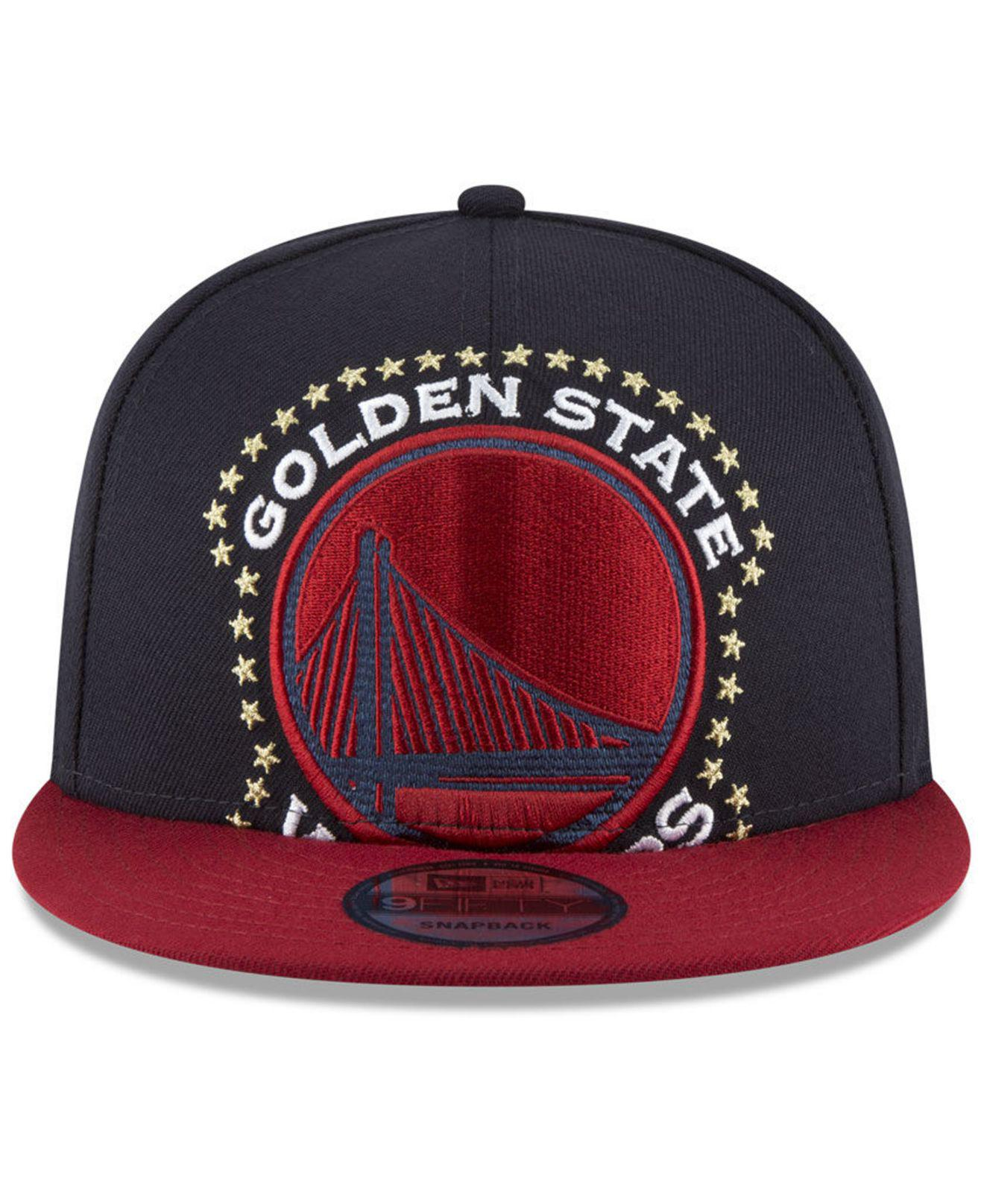 768661359ee72 ... order lyst ktz golden state warriors xl americana 9fifty snapback cap  in blue for men 2e2aa