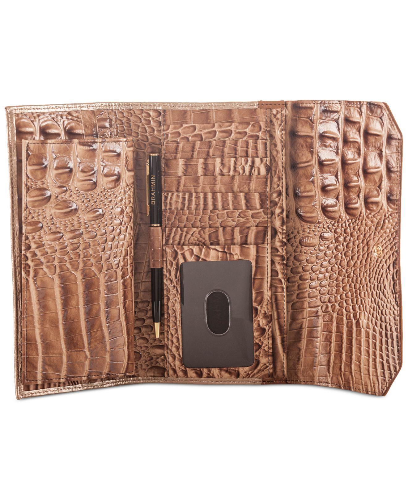 Lyst Brahmin Sandshell Varadero Soft Checkbook Wallet In
