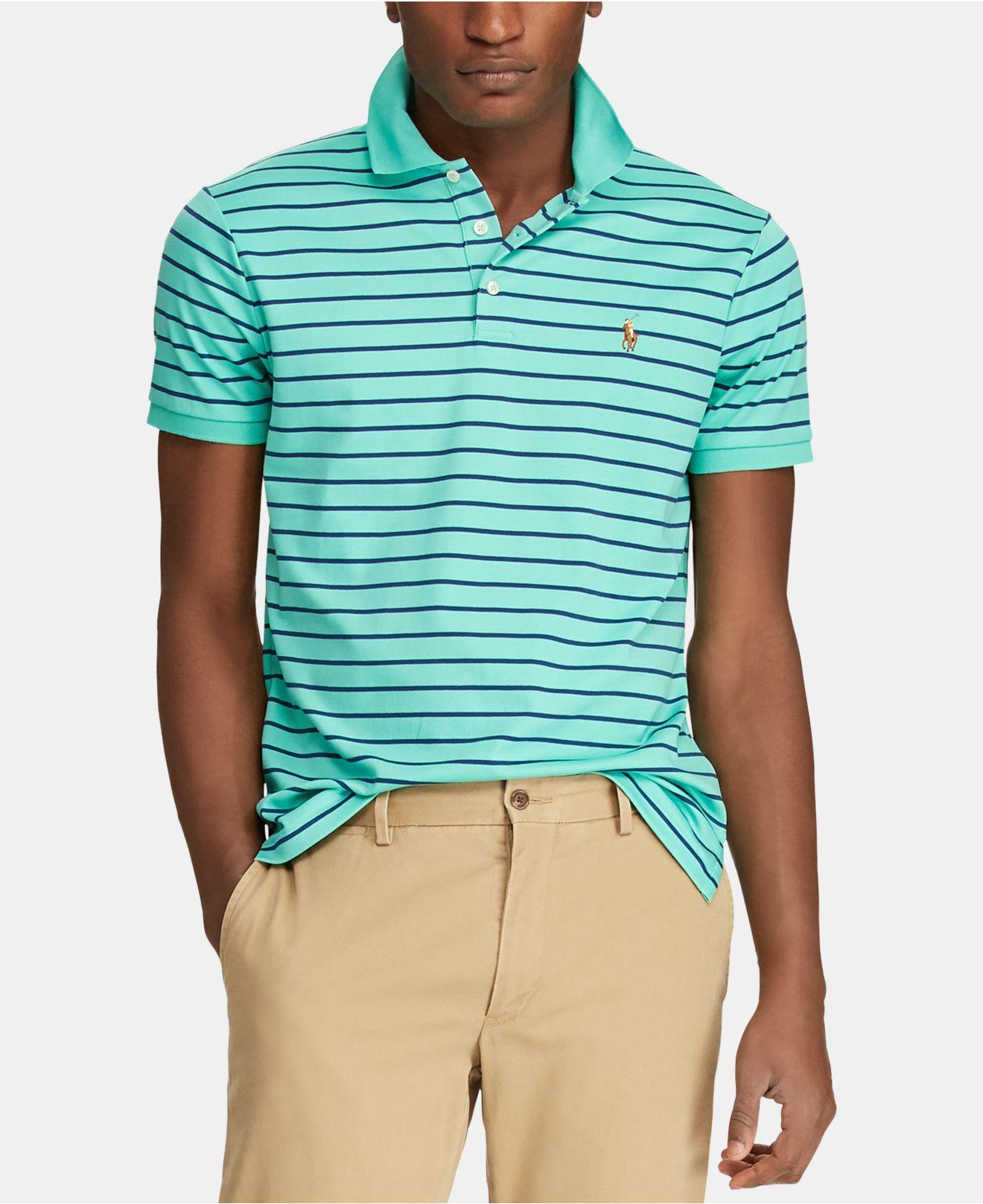 a35beb6e1f5a4 Polo Ralph Lauren. Men s Green Custom Slim Fit ...