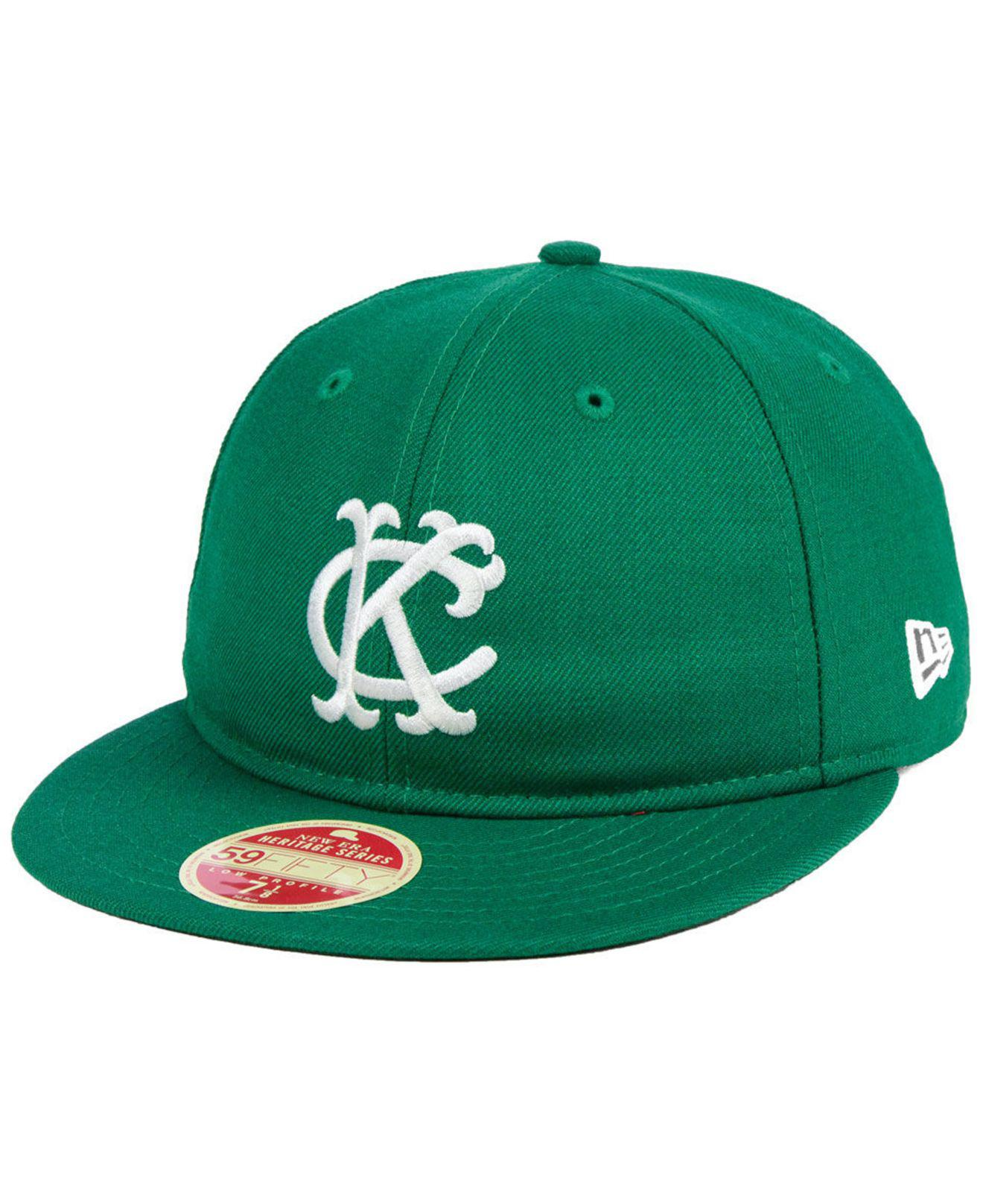 new style 5ac83 9d3b0 KTZ. Men s Green Kansas City Athletics Heritage Retro Classic 59fifty  Fitted Cap