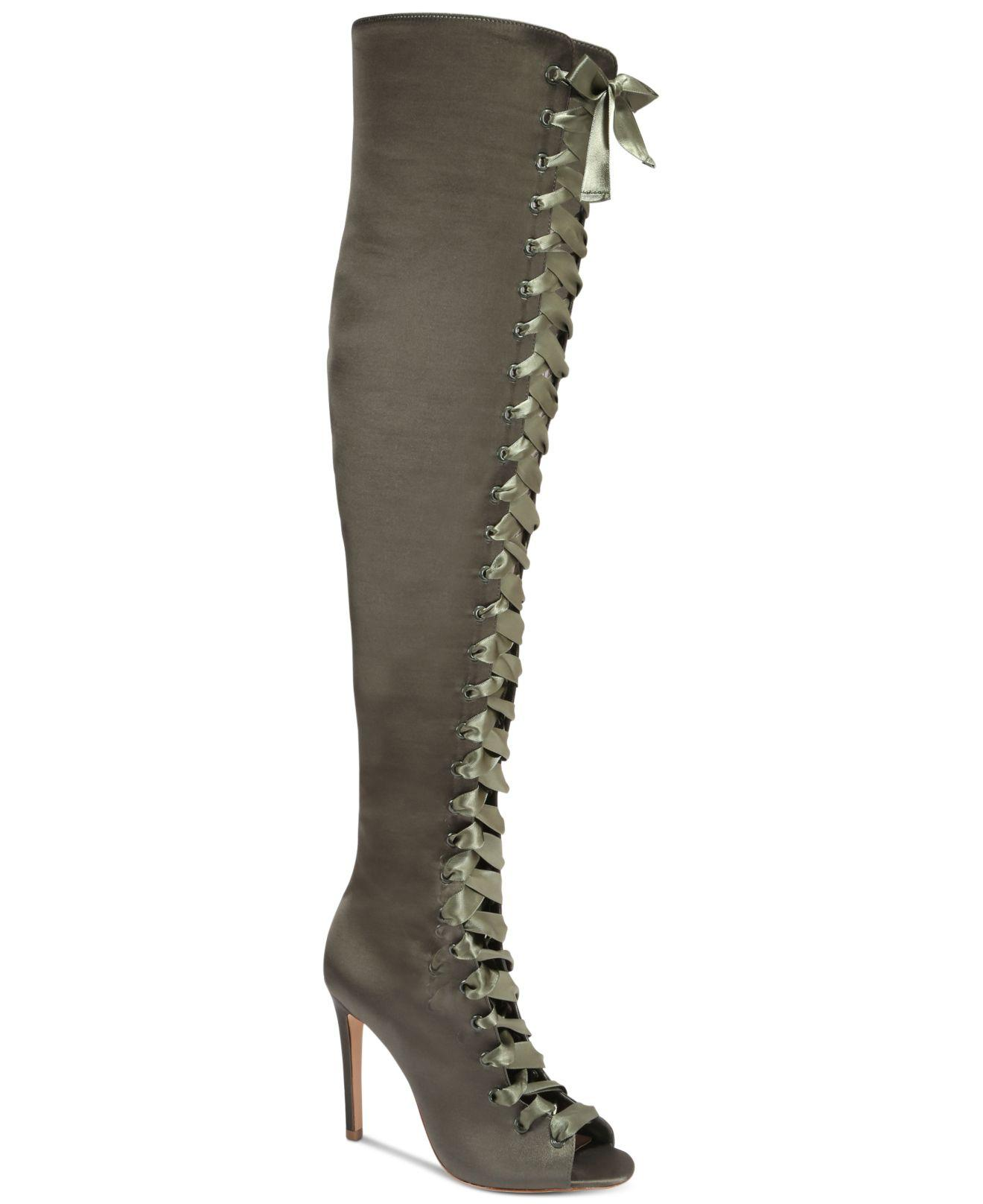 Aldo Cherisse Lace Up Over The Knee Boots Lyst