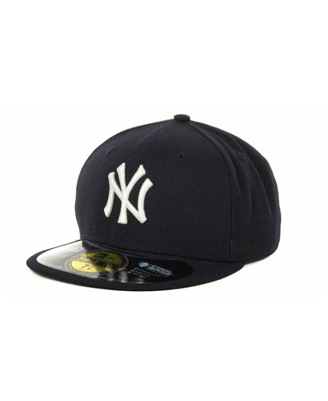 5d387400d0f Lyst - KTZ New York Yankees Authentic Collection 59fifty Hat in Blue ...
