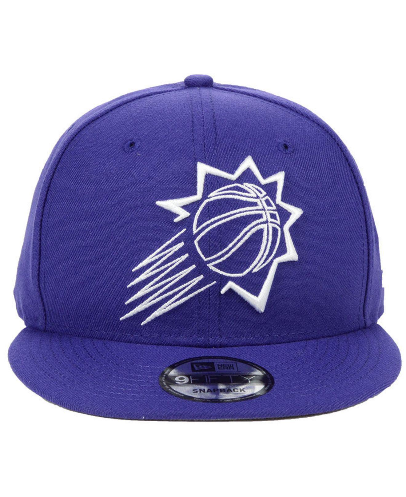 sports shoes 92893 4347f ... new style lyst ktz phoenix suns logo trace 9fifty snapback cap in  purple for men ab41e