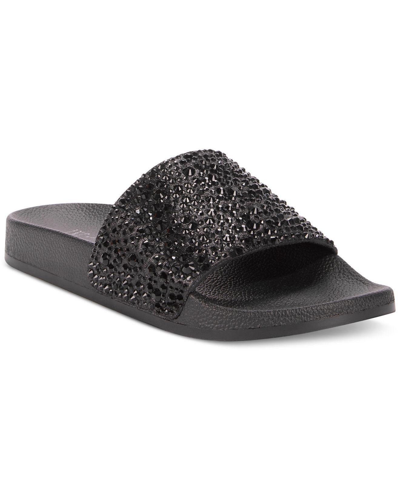 9f3bb543f9e754 Lyst - INC International Concepts Women s Peymin Flat Slide Sandals ...