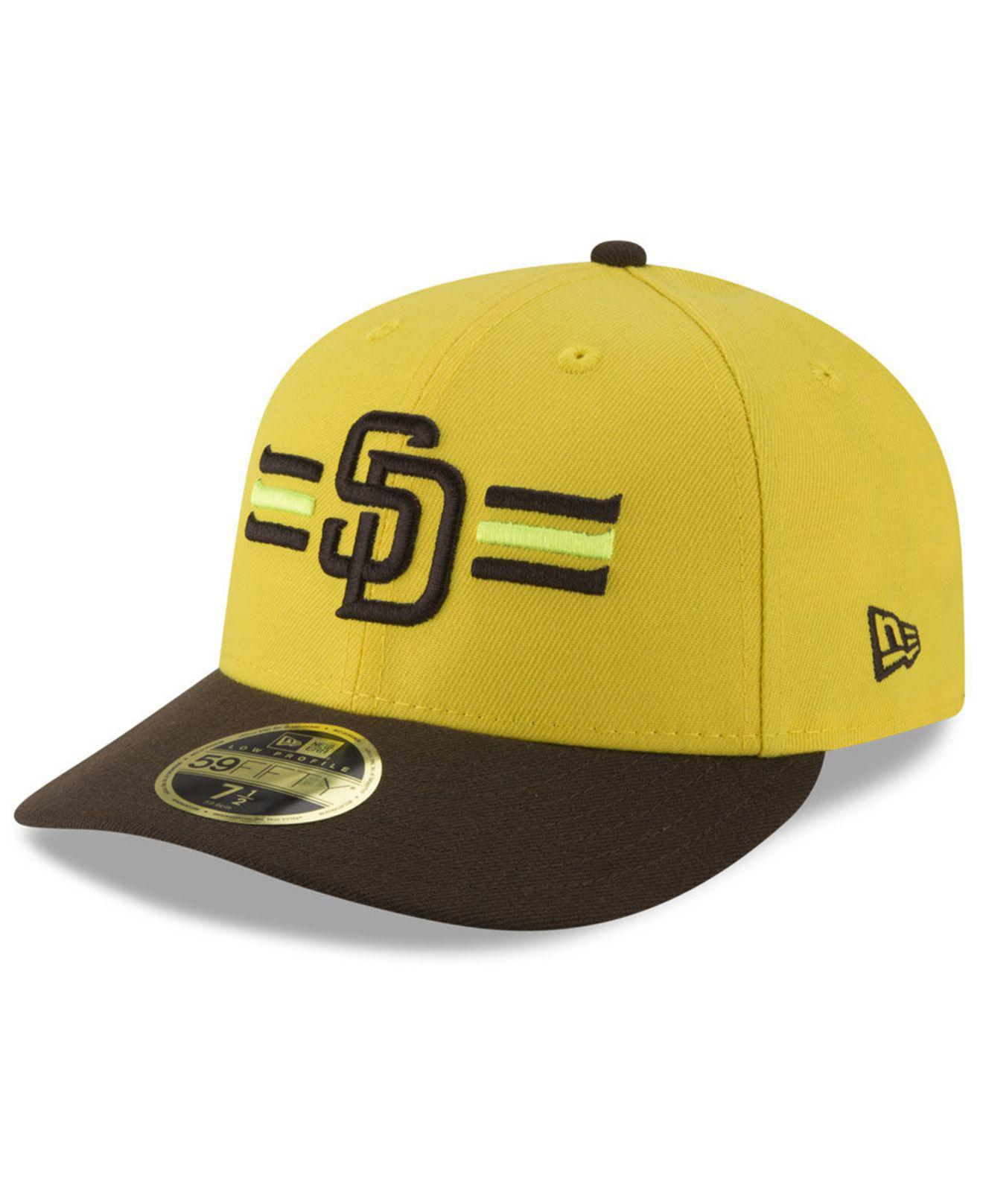 5b60bb9a76b KTZ. Men s Yellow San Diego Padres Players Weekend Low Profile 59fifty  Fitted Cap