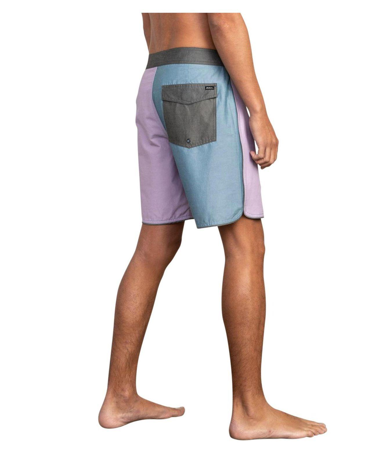 95f116e313 Lyst - RVCA South Eastern Stretch Colorblocked Swim Trunks in Blue for Men