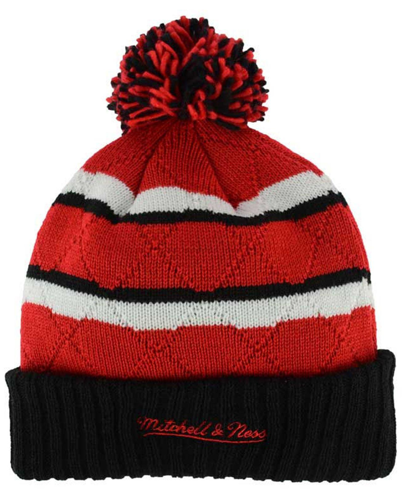 944f52c6ea057 ... ireland lyst mitchell ness quilted hi five knit hat in red for men  86169 a1fef