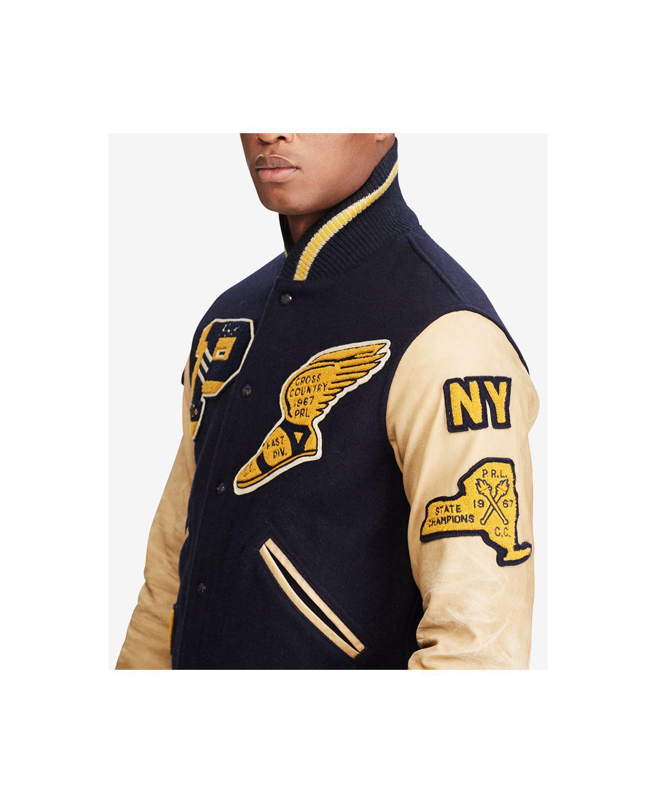 Lyst Polo Ralph Lauren Men S Iconic Letterman Jacket In