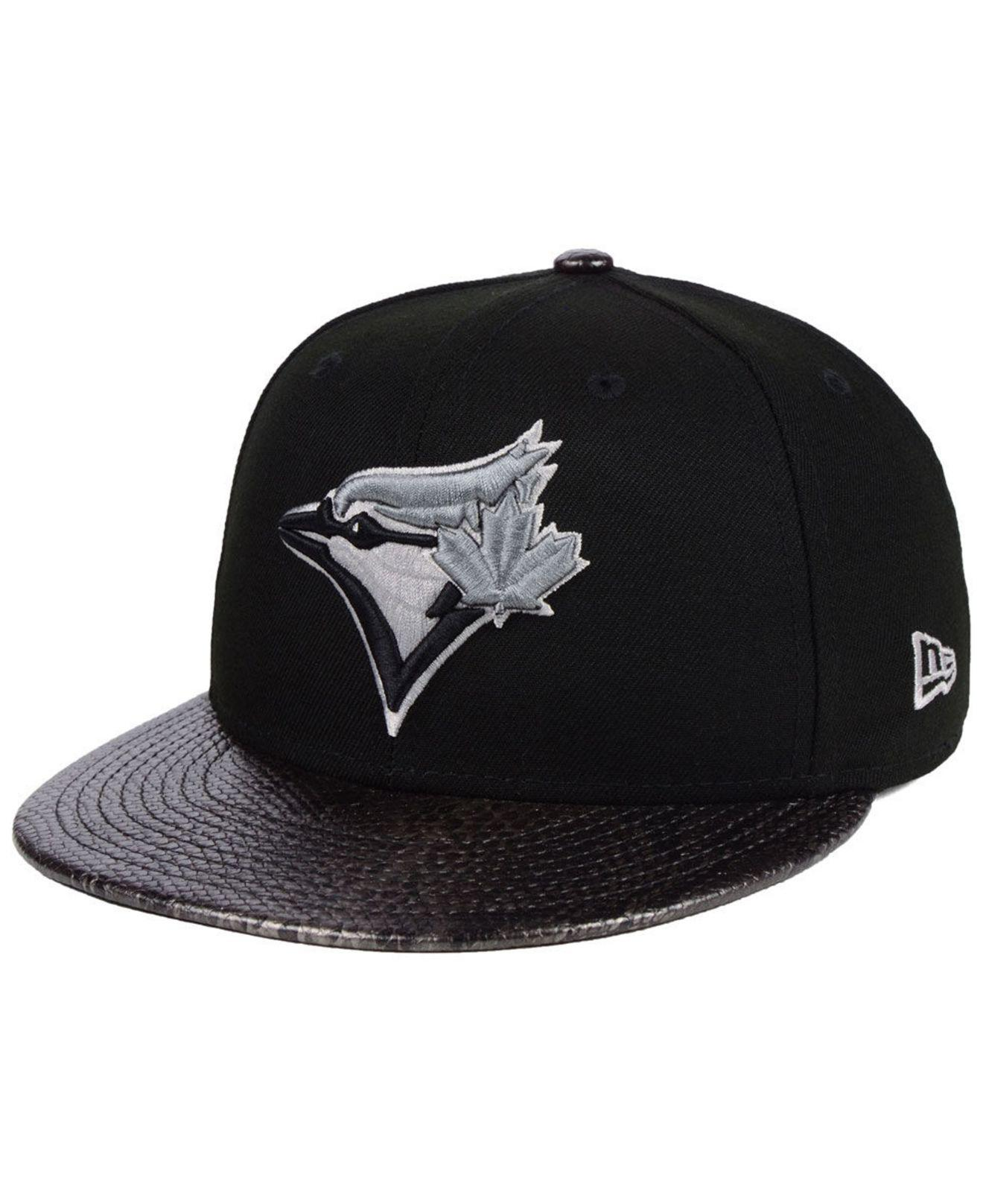 cf2a0e04182 Lyst - KTZ Toronto Blue Jays Snakeskin Sleek 59fifty Fitted Cap in ...