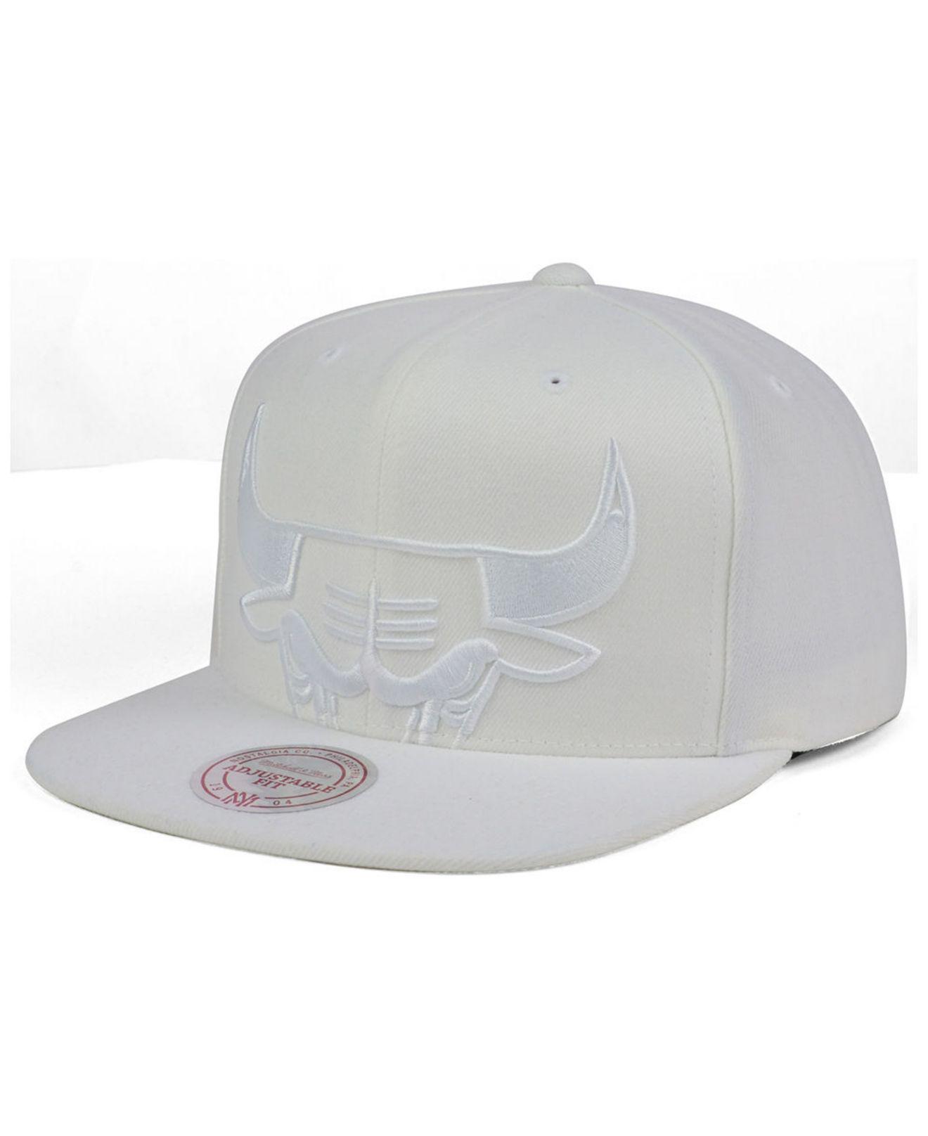 53c41ef93eb ... denmark lyst mitchell ness chicago bulls cropped xl logo snapback cap  in 3a815 3e138