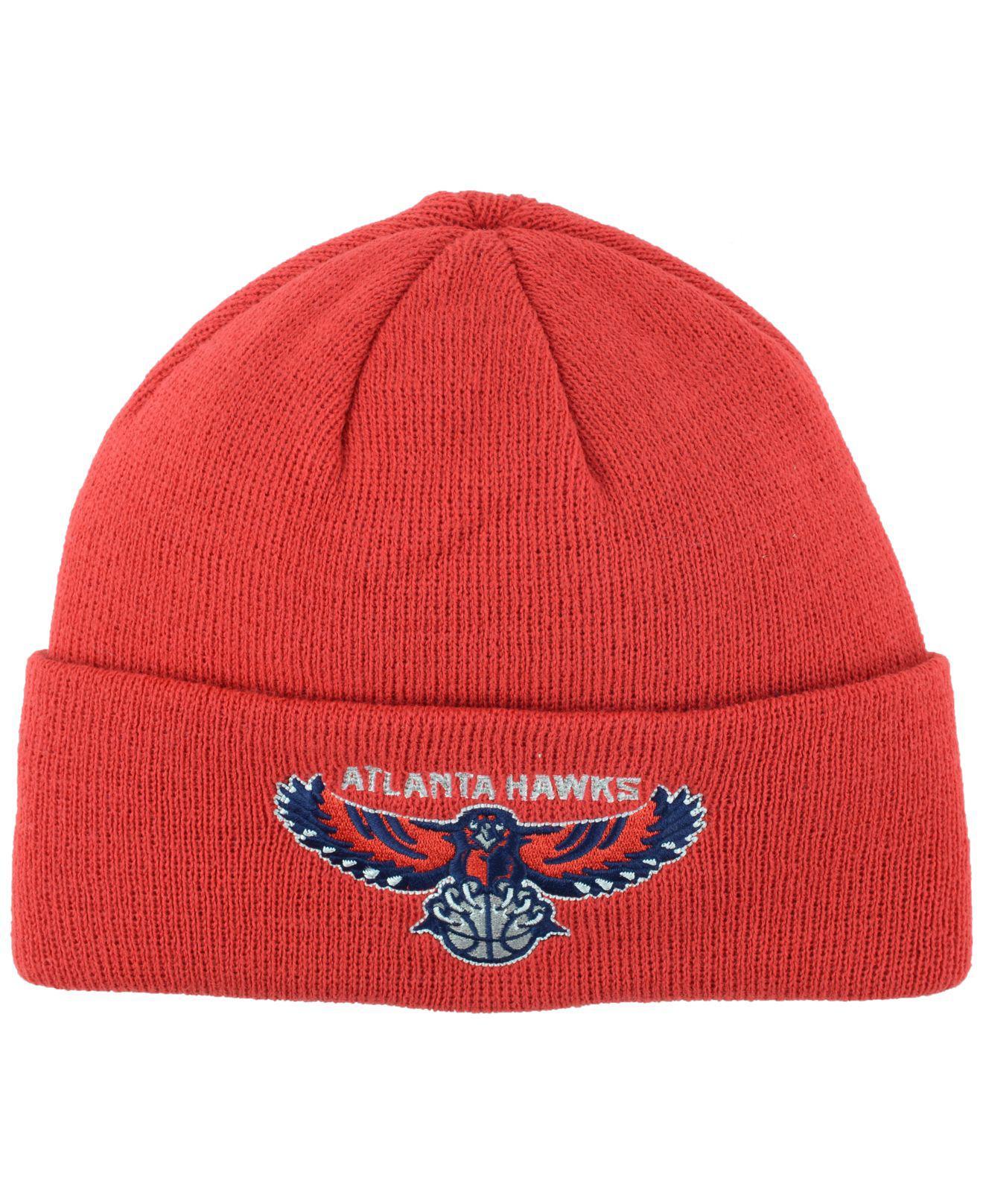 be5b284e914 Lyst - adidas Atlanta Hawks Cuff Knit Hat in Red for Men