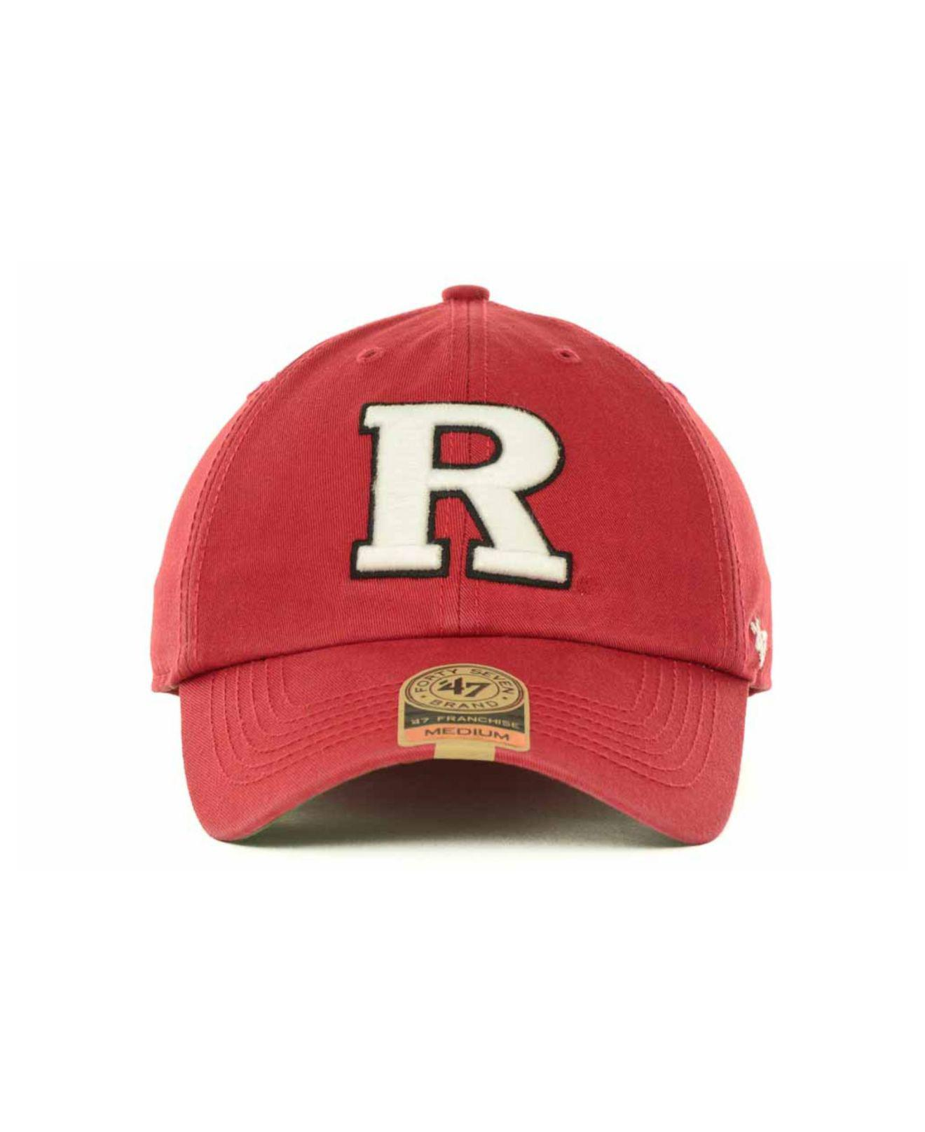 6ccdb37f4af Lyst - 47 Brand Rutgers Scarlet Knights Franchise Cap in Red for Men