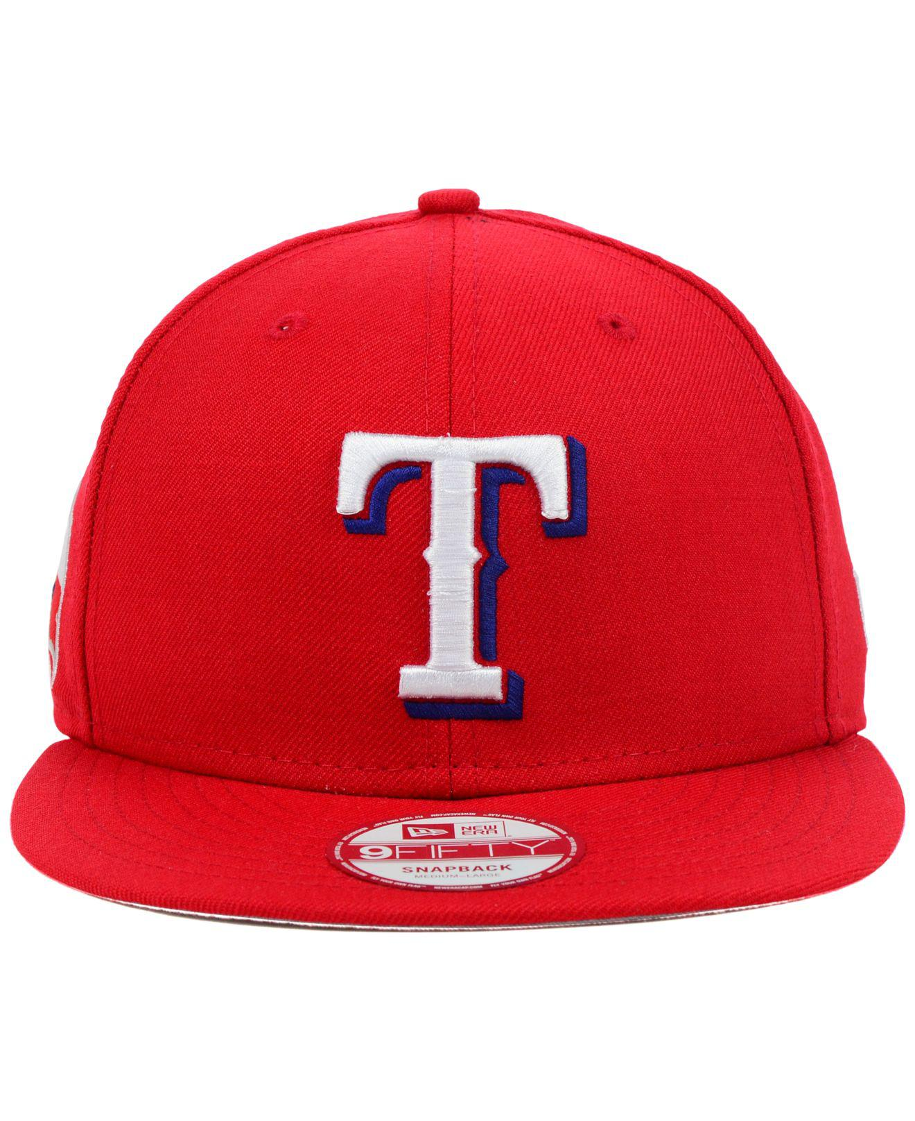 100% authentic a586e 2dc8a ... discount code for lyst ktz texas rangers mlb 2 tone link 9fifty  snapback cap in red