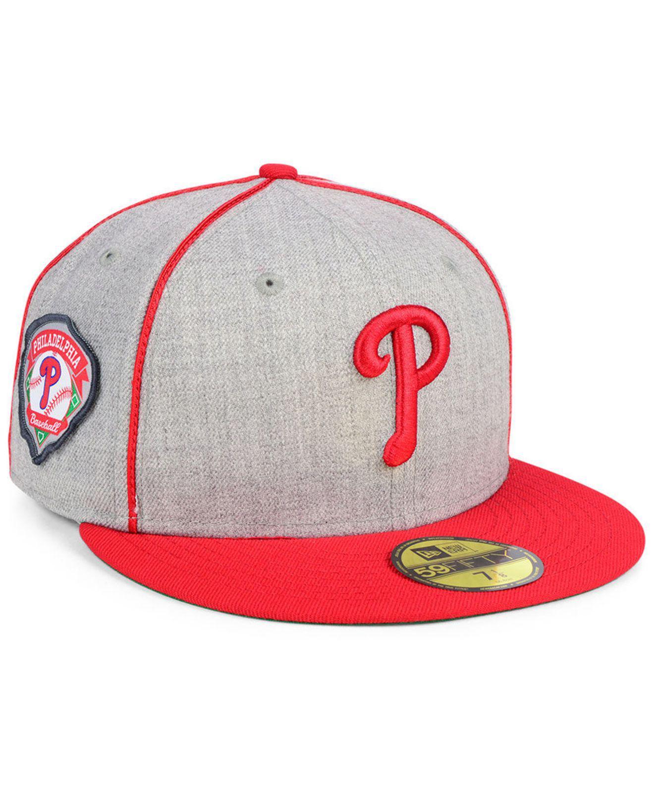 detailed look 58f80 b967b ... sale ktz. mens red philadelphia phillies stache 59fifty fitted cap  35516 e2669