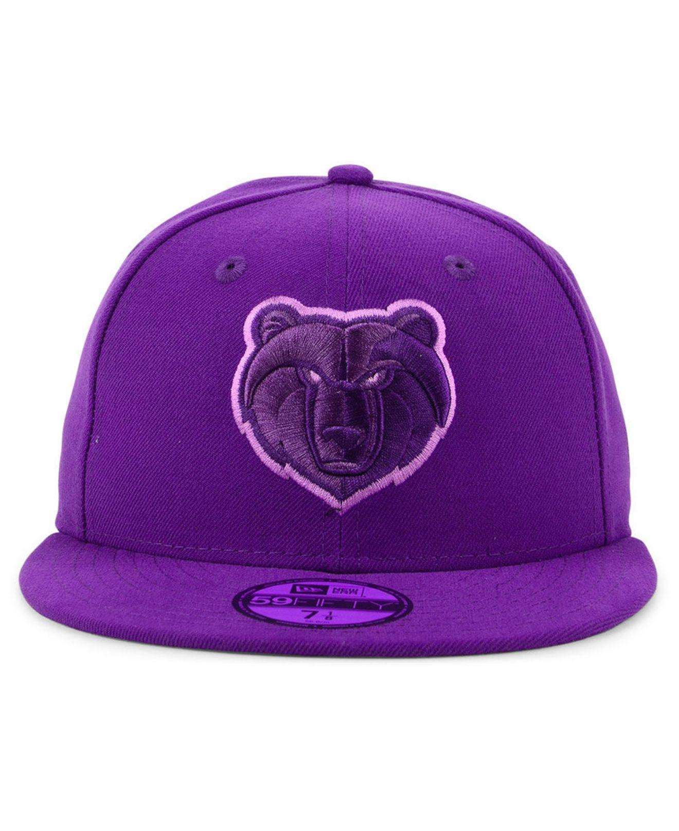 best website b9647 a4daa ... new style lyst ktz memphis grizzlies color prism pack 59fifty fitted cap  in purple for men