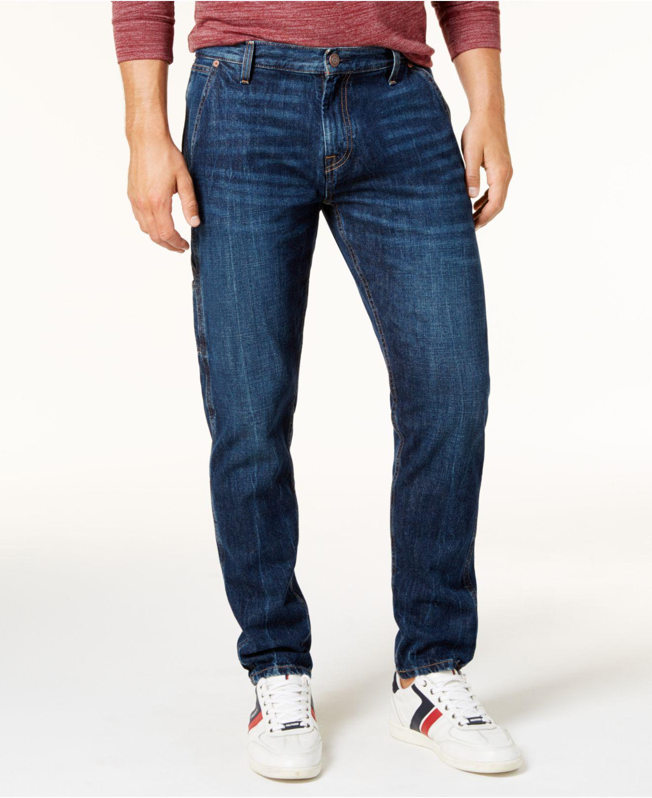 Lyst - Tommy Hilfiger Men s Relaxed Tapered Carpenter Jeans in Blue ... 24bb08afa3