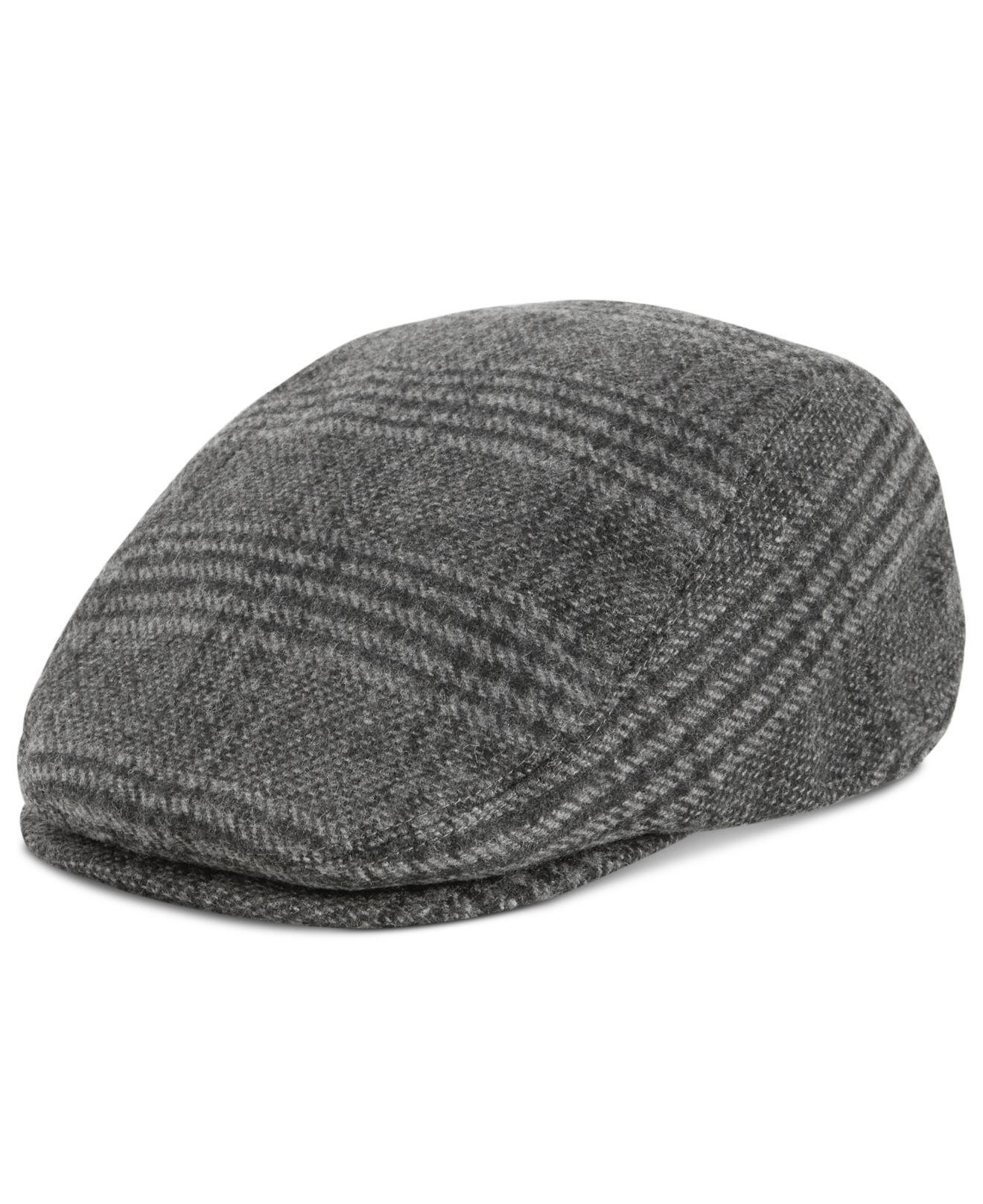 Lyst - Levi s Men s Plaid Flat Top Plaid Ivy Hat in Gray for Men 955dea73c8b5