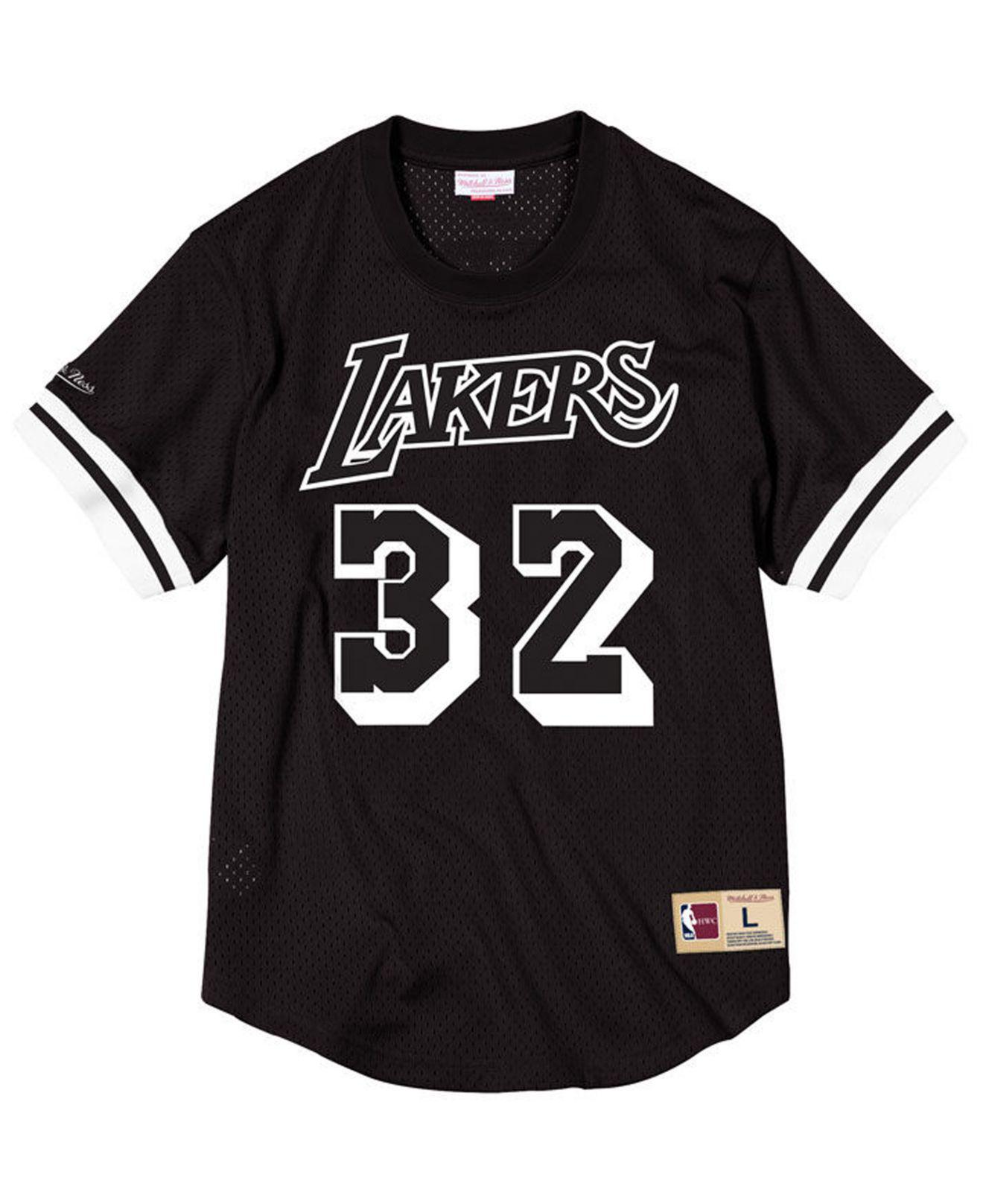 Lyst - Mitchell   Ness Magic Johnson Los Angeles Lakers Black ... cc2d7187f