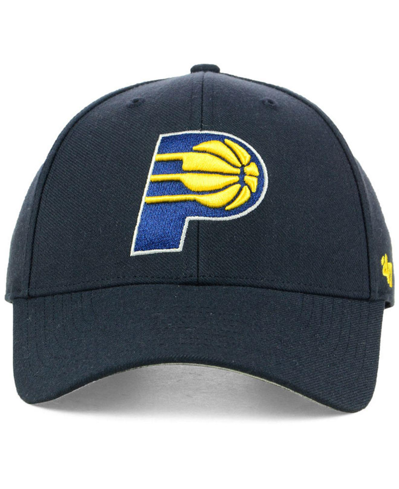 premium selection 779fd 15abb 47 Brand Indiana Pacers Team Color Mvp Cap in Blue for Men - Lyst