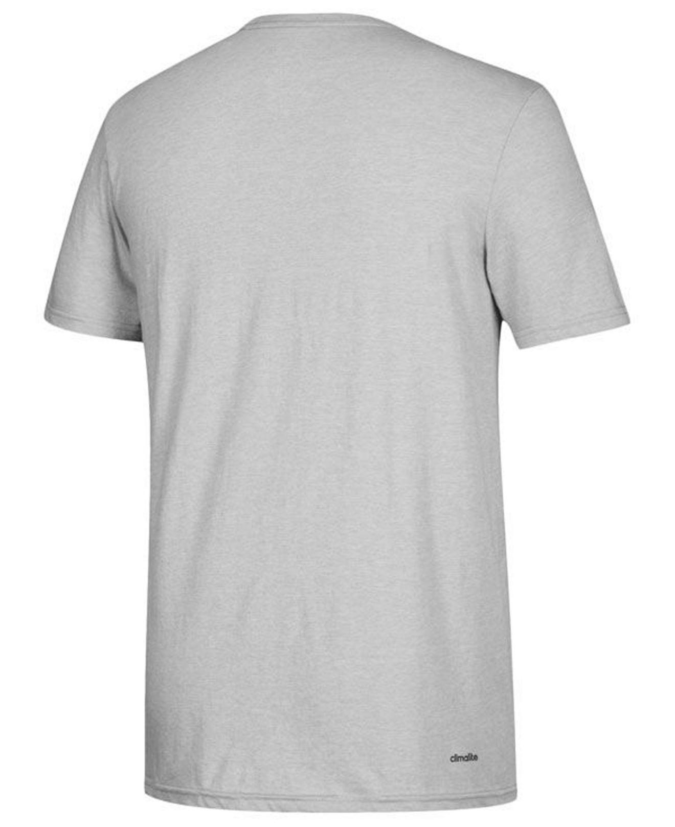 Lyst Adidas Texas Am Aggies Performance Wordstack T Shirt In Gray