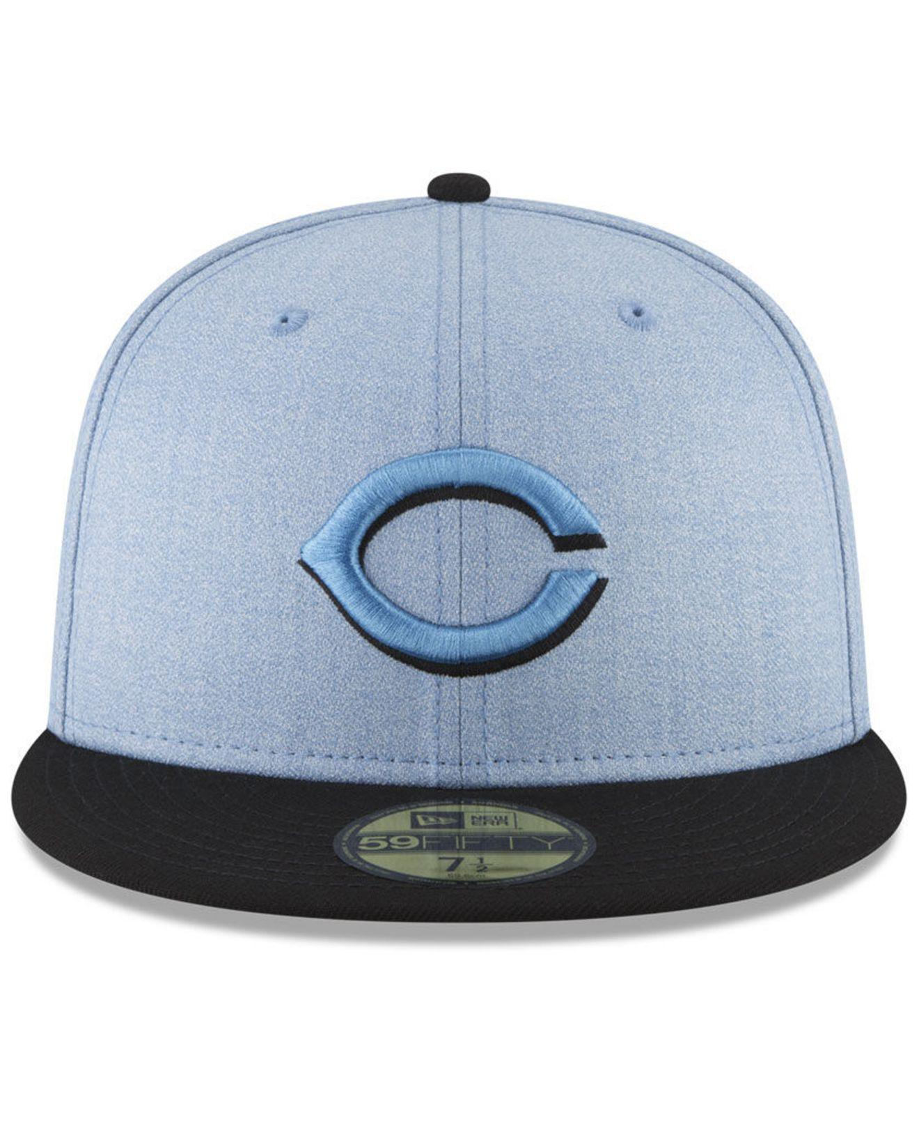 more photos 0acee f07d0 ... coupon code lyst ktz cincinnati reds fathers day 59fifty fitted cap  2018 in blue for men