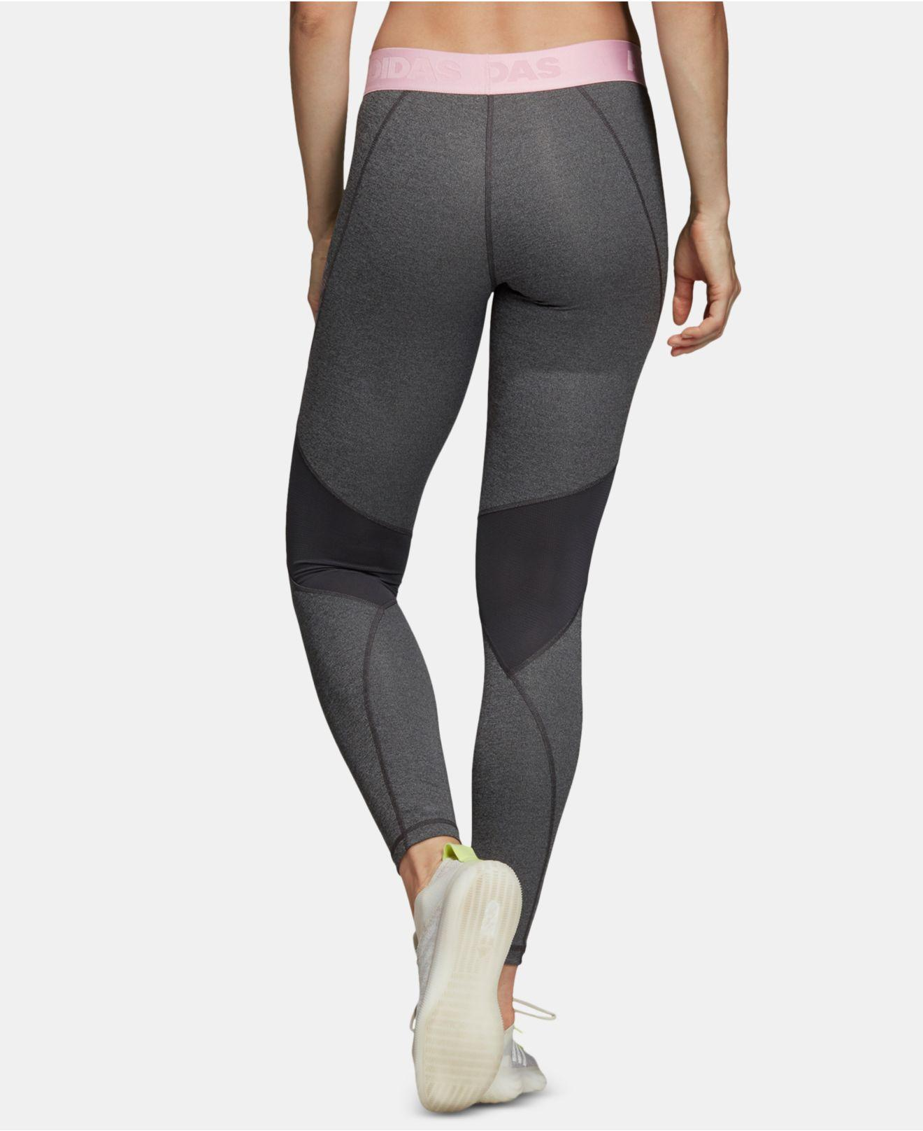 378e62aba945c Lyst - adidas Alphaskin Climacool® Logo Leggings in Gray