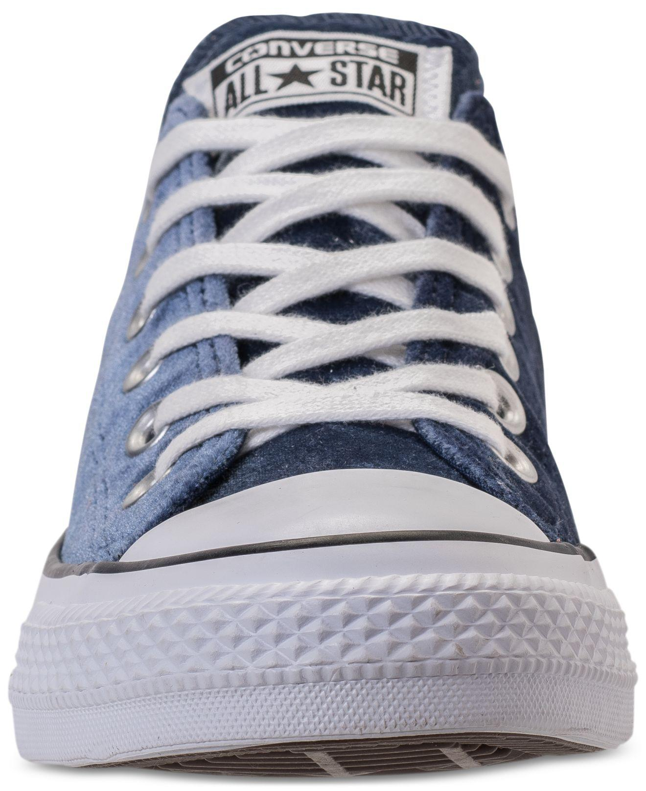dd003f1ca08a Lyst - Converse Women s Chuck Taylor Ox Velvet Casual Sneakers From ...
