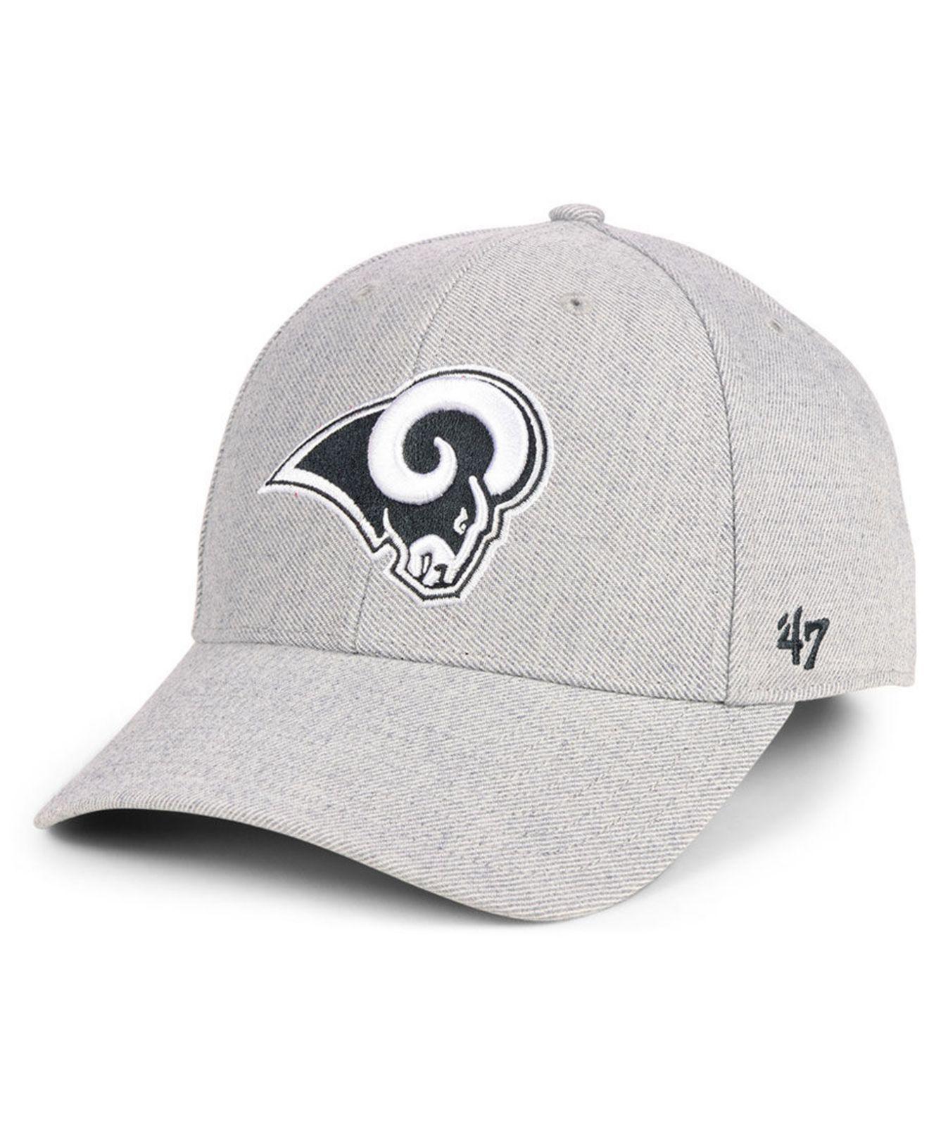 big sale 38ff8 aa5f3 47 Brand. Men s Gray Los Angeles Rams Heathered Black White Mvp Adjustable  Cap