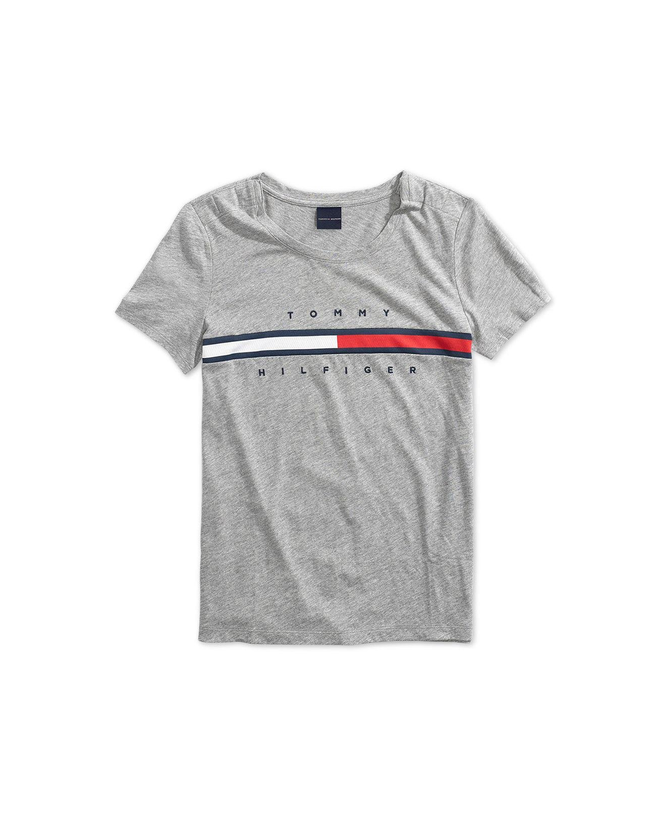 0c20c1f4 Lyst - Tommy Hilfiger Signature T-shirt With Magnetic Closure At ...
