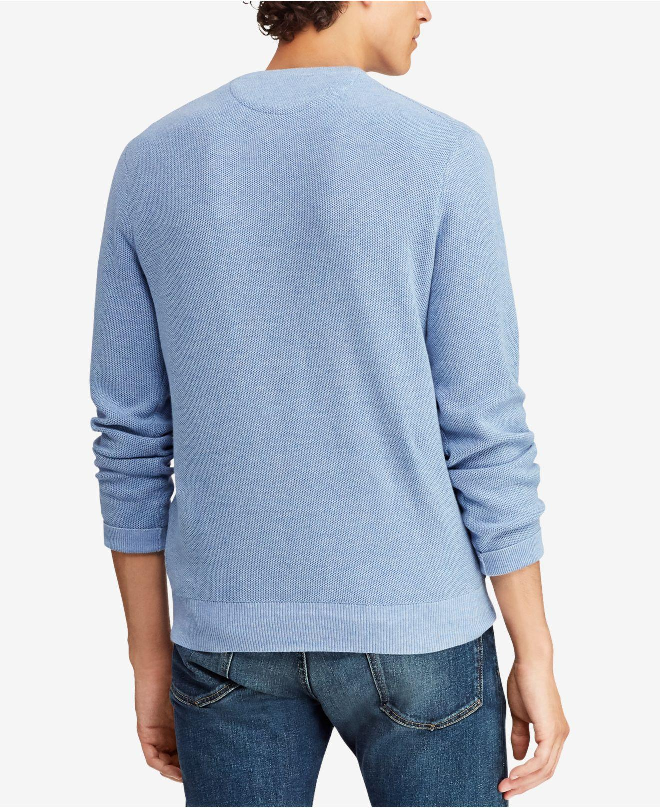 005cf5e3a3cfd Lyst - Polo Ralph Lauren Crew Neck Sweater in Blue for Men