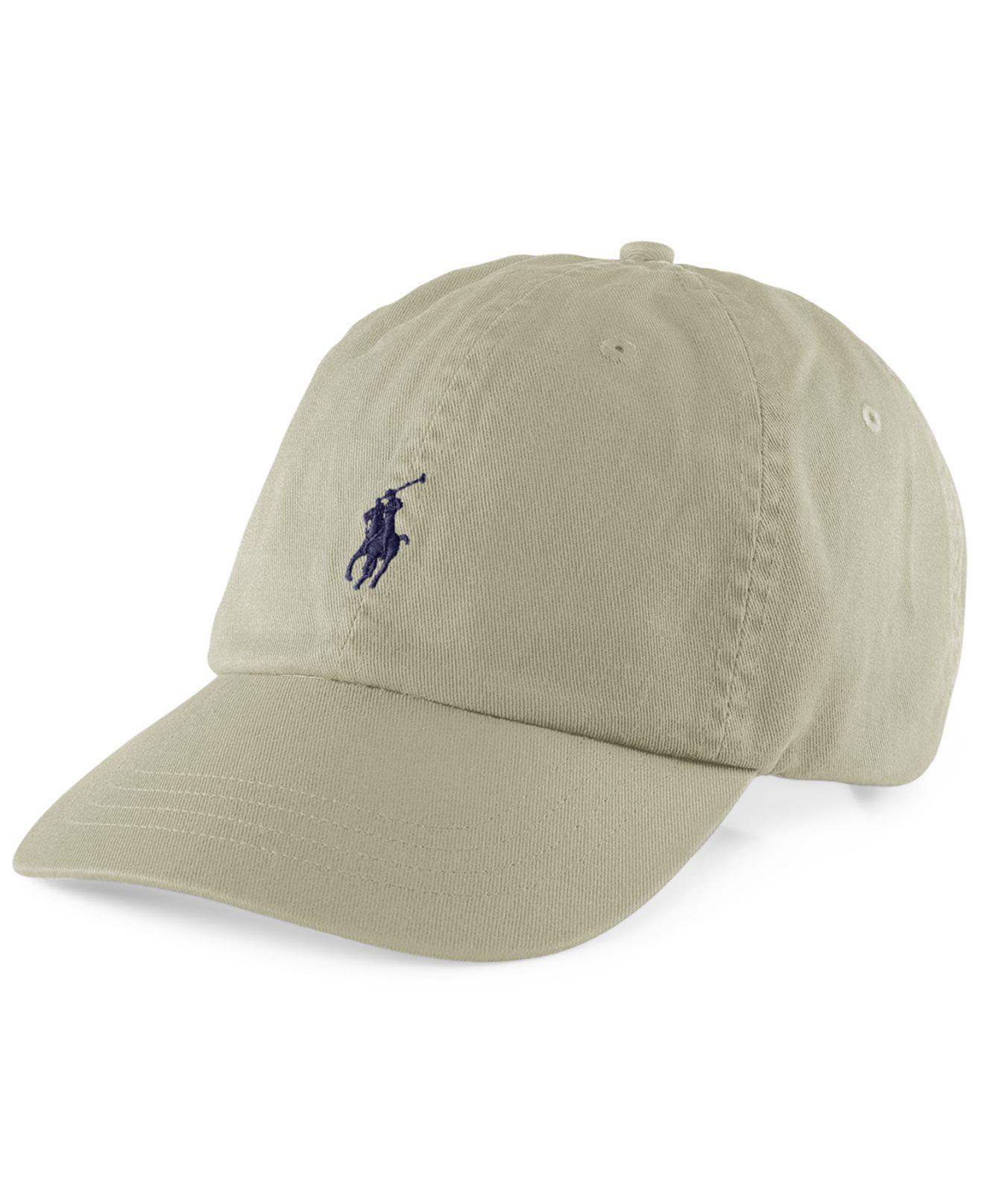 787905748f4 Polo Ralph Lauren - Natural Classic Sport Cap for Men - Lyst. View  fullscreen