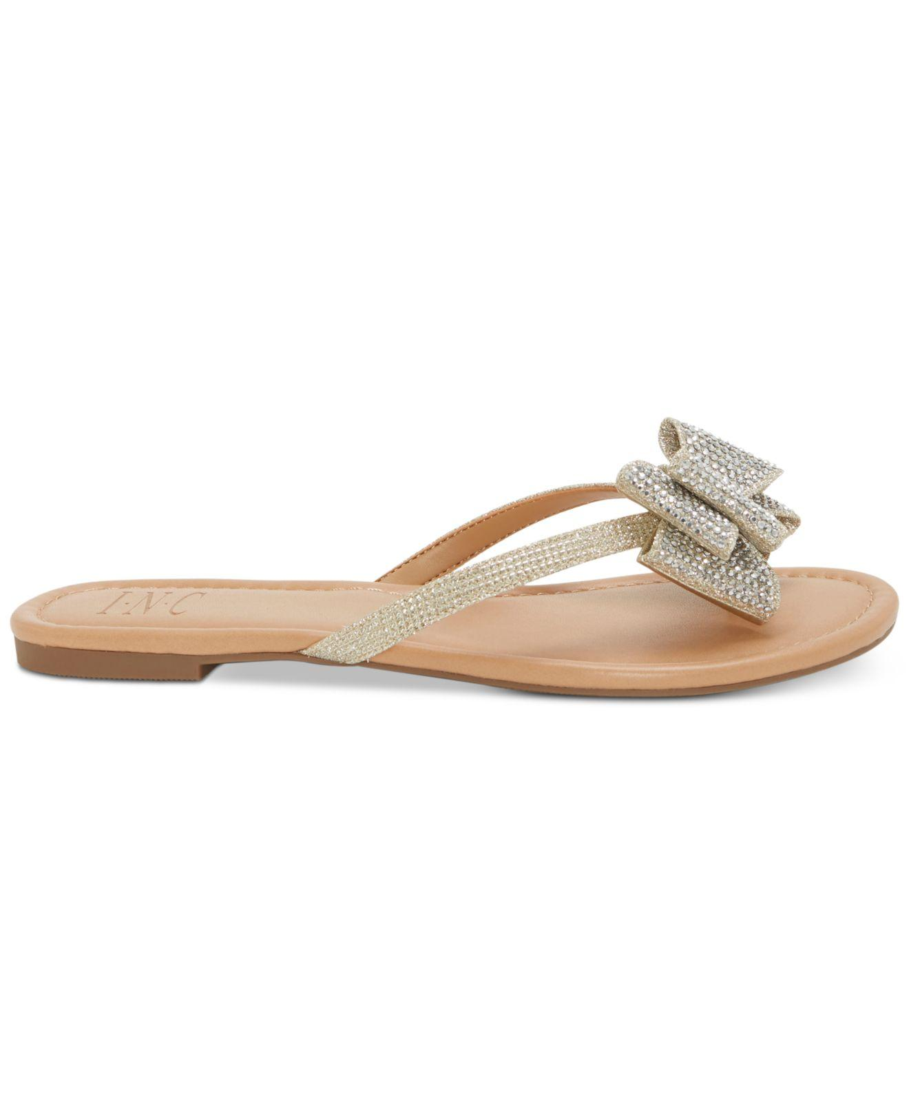 786e00ad0 Lyst - INC International Concepts Women s Mabae Bow Flat Sandals - Save 41%