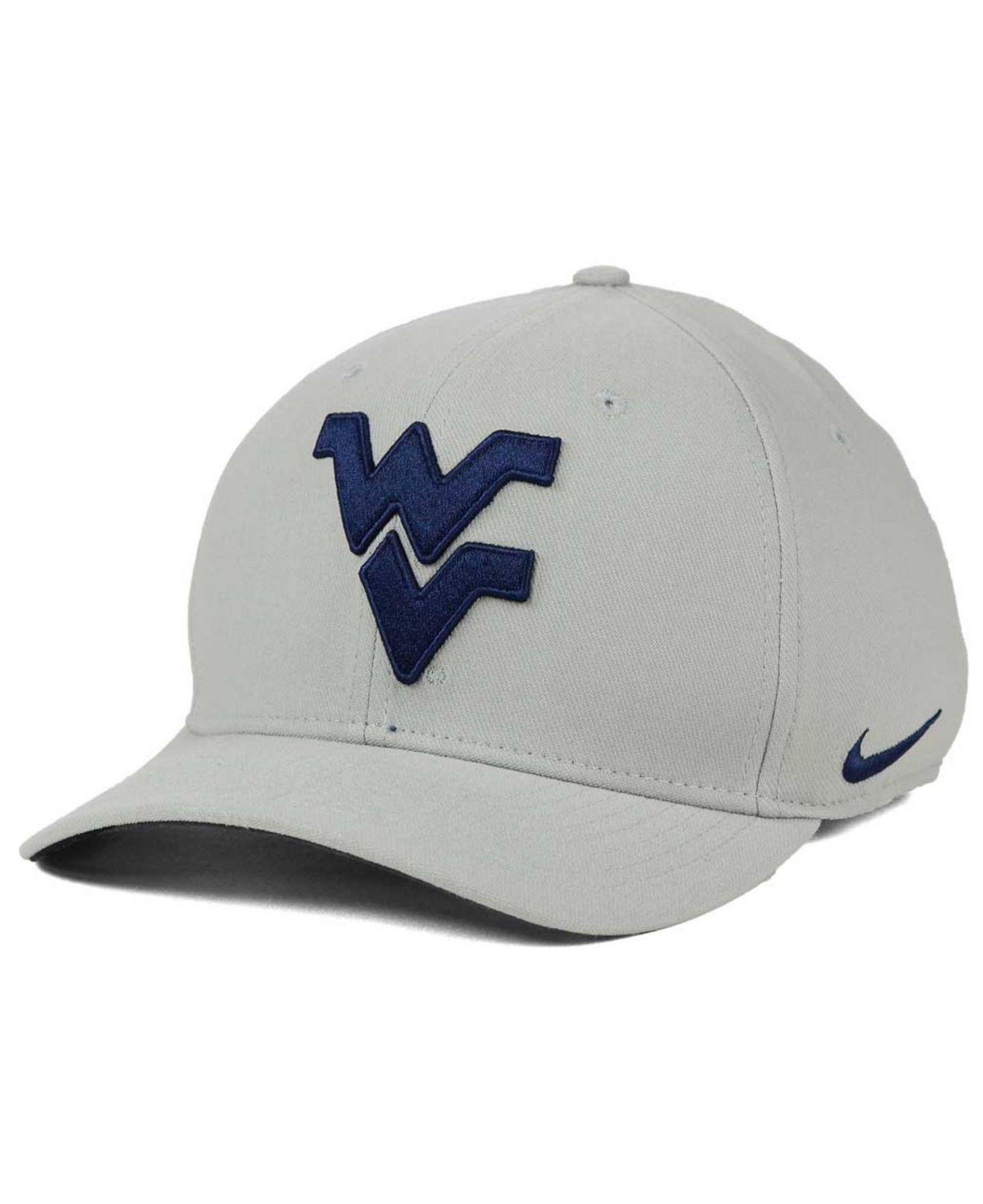 new arrival c977c 647f0 Nike. Men s Gray West Virginia Mountaineers Classic Swoosh Cap
