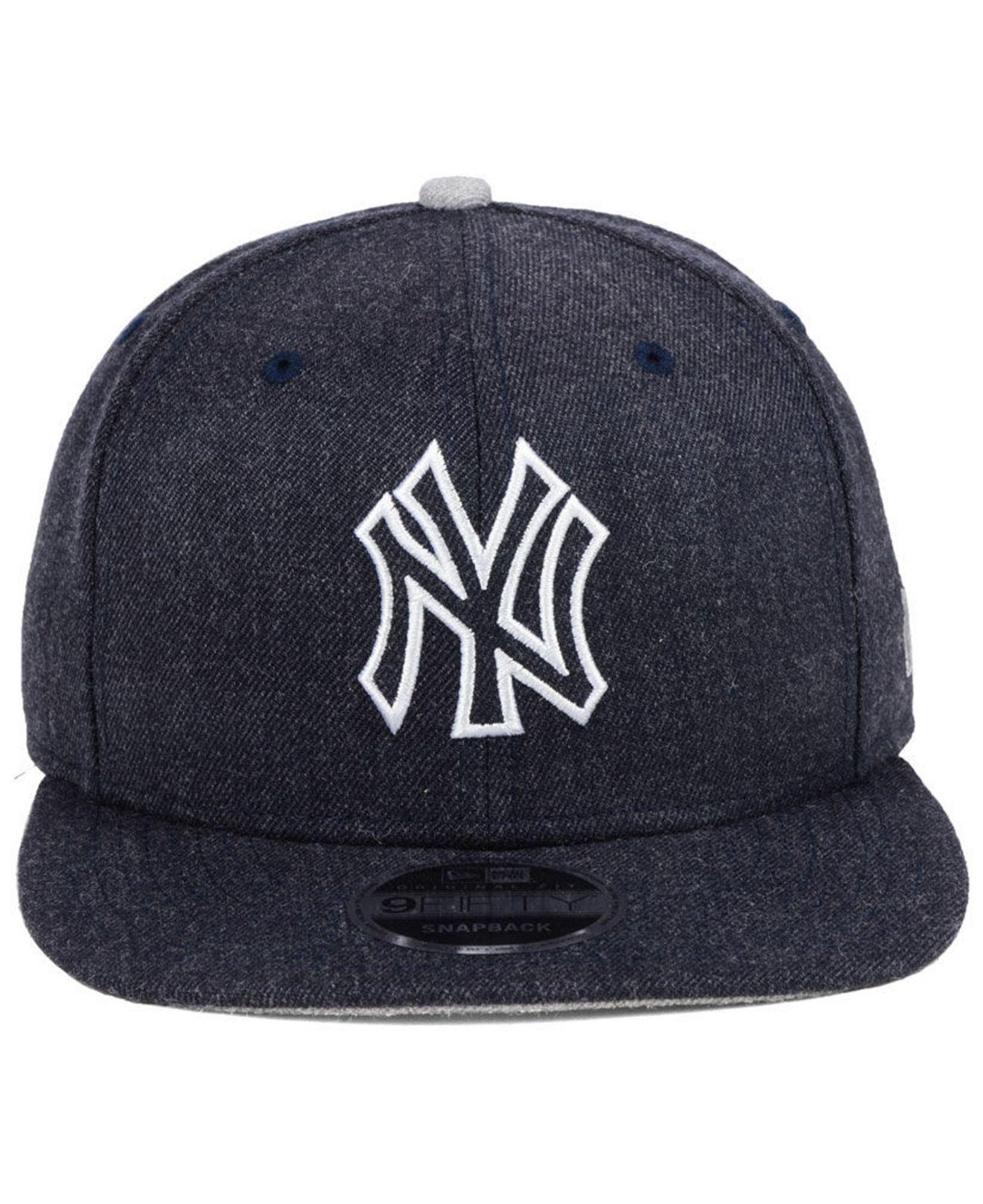 get cheap d379a 06d38 denmark lyst ktz new york yankees heather hype 9fifty snapback cap in blue  for men 4c8cd
