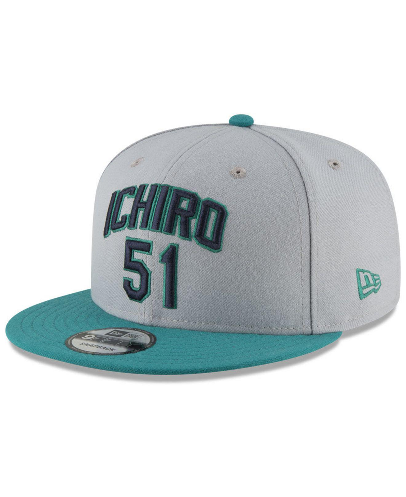 timeless design e3eb8 aaf17 ... coupon code for seattle mariners ichiro pack 9fifty snapback cap for men  lyst. view fullscreen