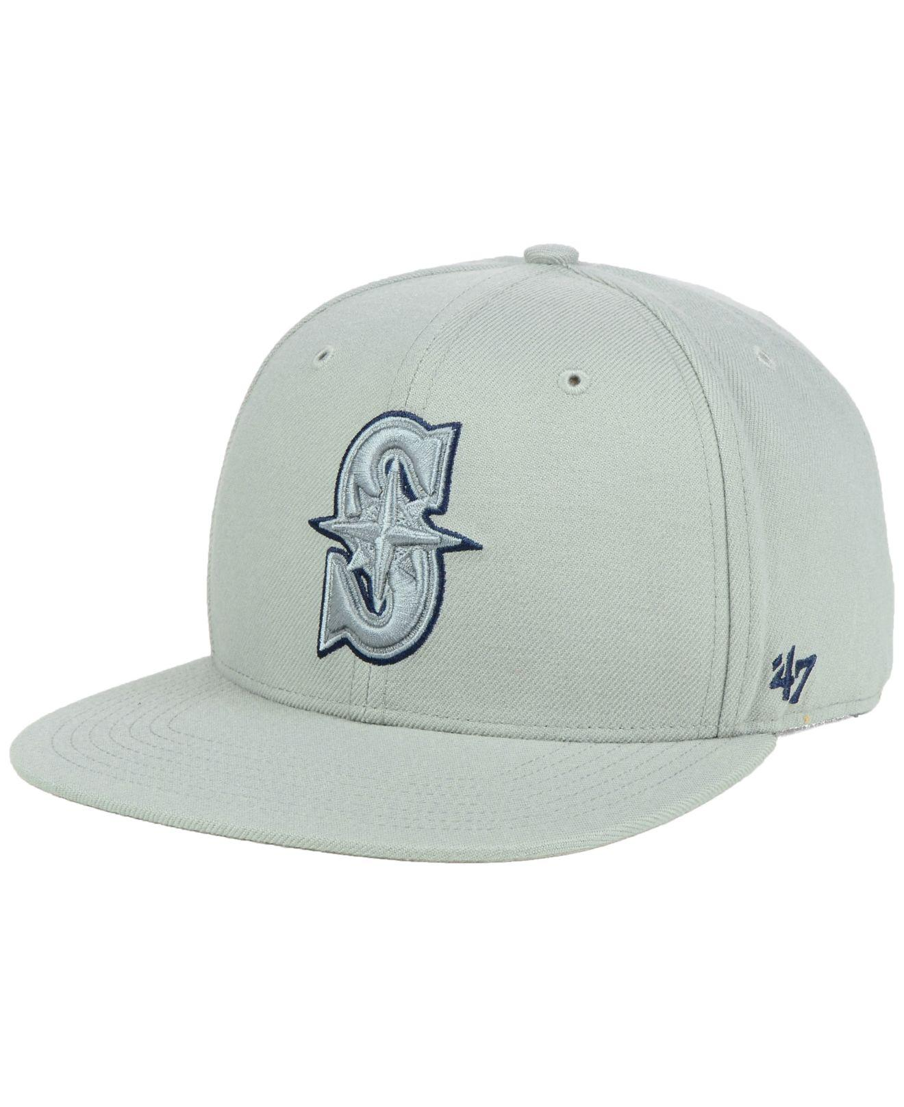 64124d65f082c Lyst - 47 Brand Seattle Mariners No Shot Tonal Captain Cap in Gray ...