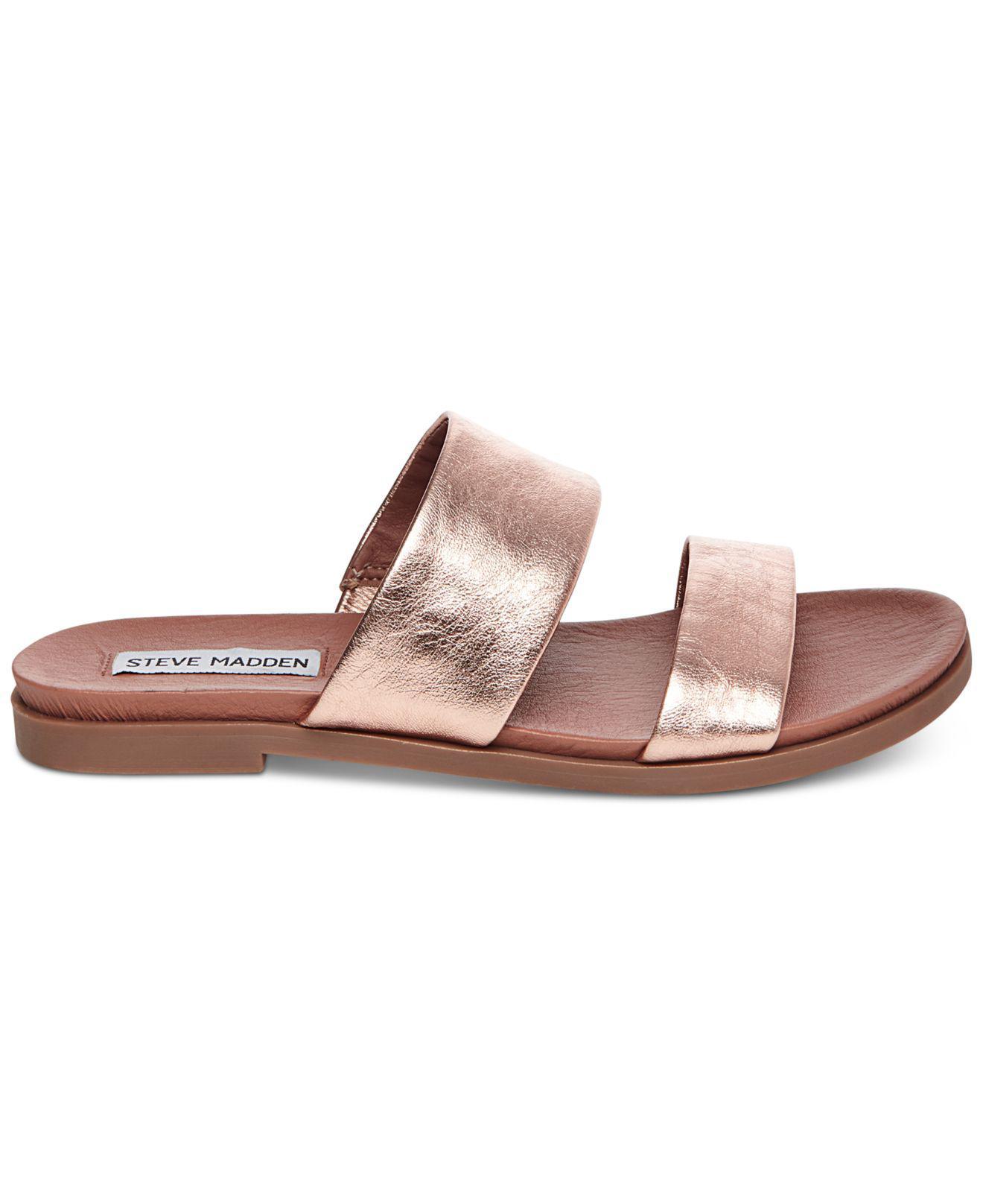 1a356ae07b3a Lyst - Steve Madden Women s Judy Flat Slide Sandals