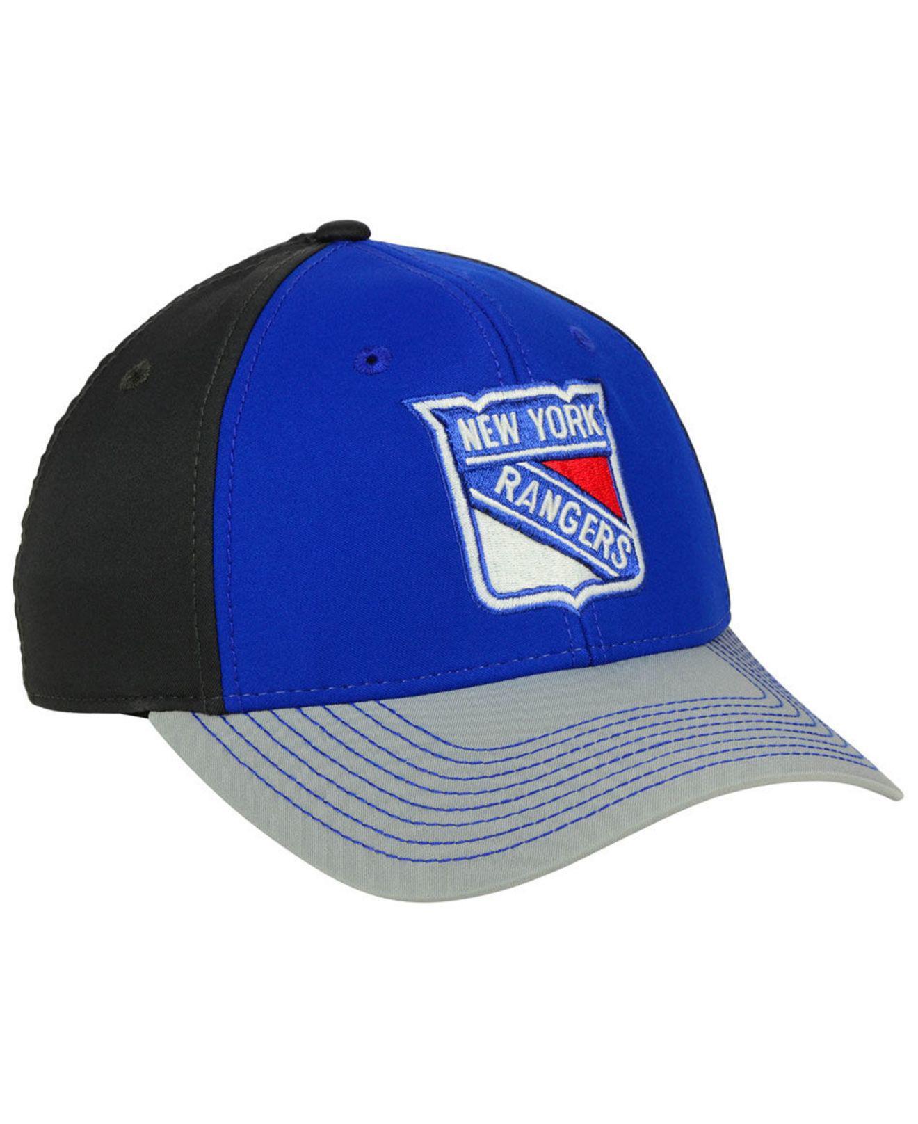 official photos c6e39 9861f ... greece lyst adidas new york rangers 2tone stitch flex cap in blue for  men bc770 ef72a