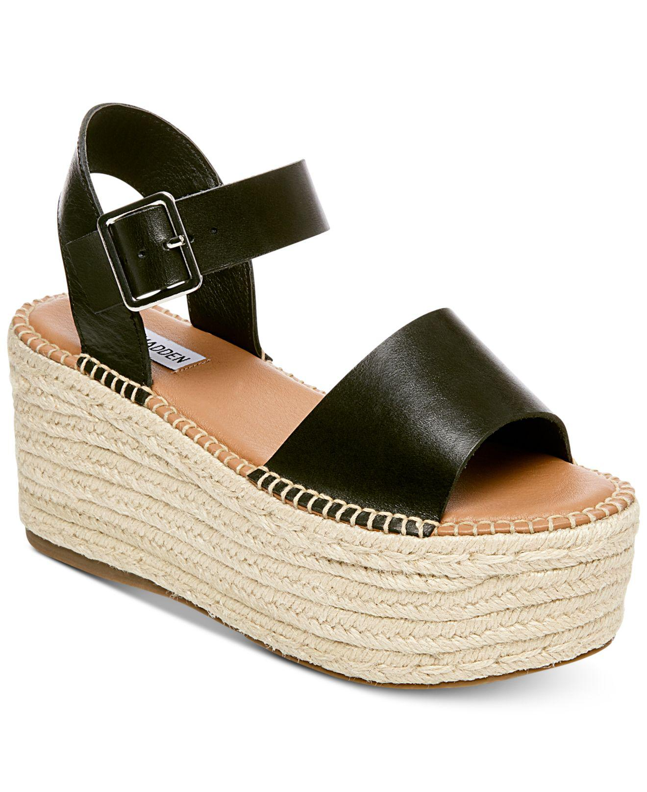 5ca5bded70e Lyst - Steve Madden Cabo Wedge Sandals in Black