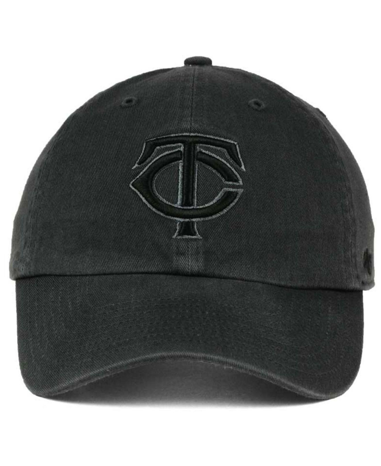 huge selection of ce324 1a3c9 ... switzerland lyst 47 brand minnesota twins charcoal clean up cap in  black for men ccb29 5ea2f