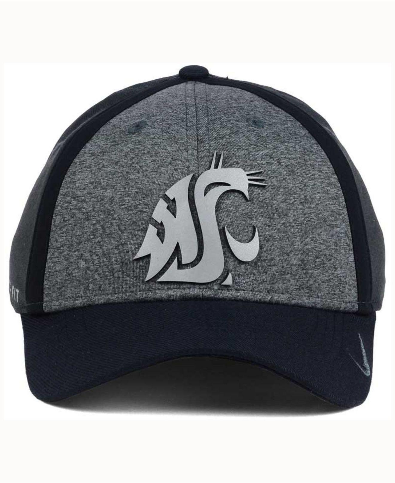 6c79054a993a4 ... best price lyst nike washington state cougars heather stretch fit cap  for men bd14e 4830b
