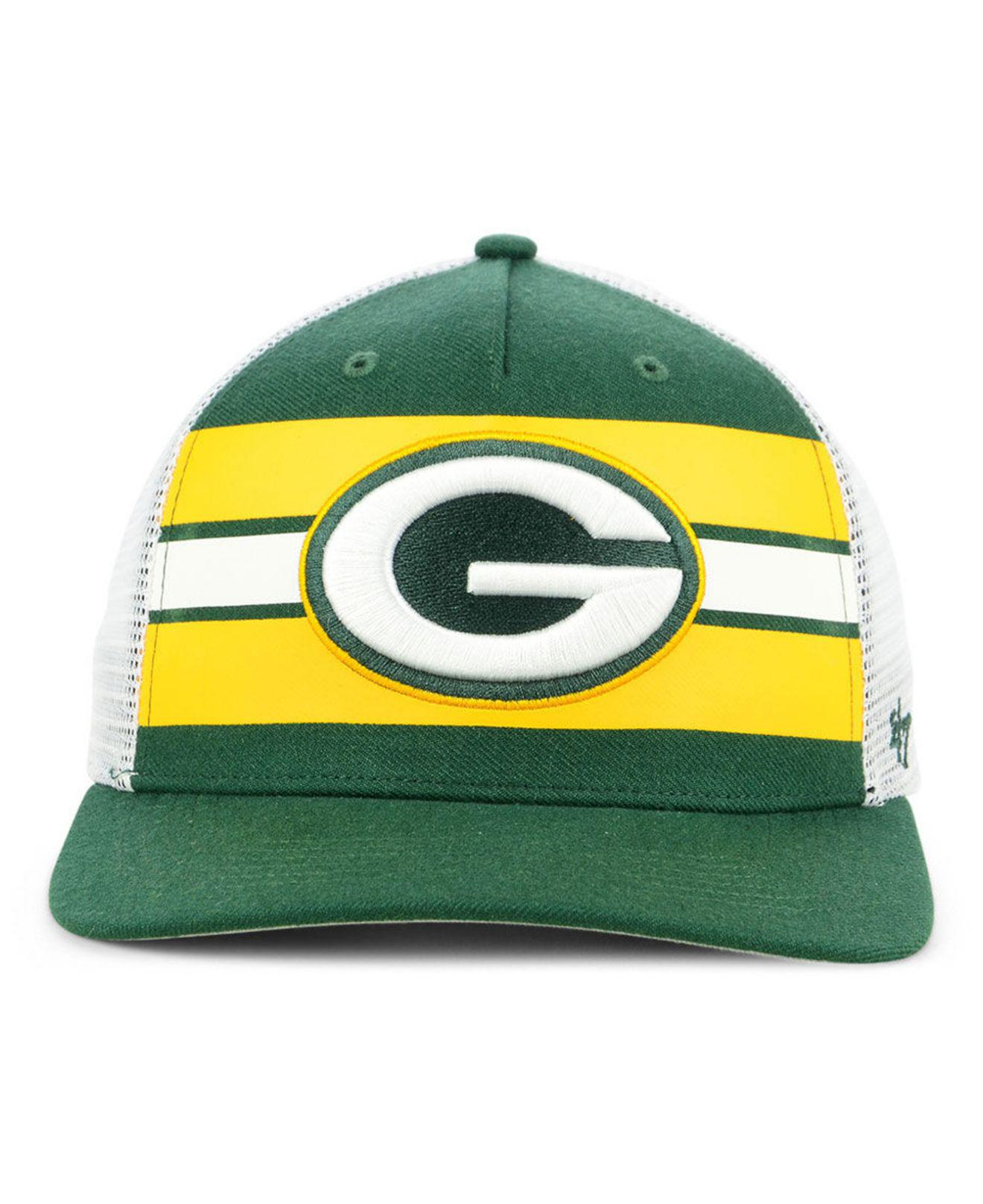 Lyst - 47 Brand Green Bay Packers Team Stripe Mvp Cap in Green for Men dadadd0c3