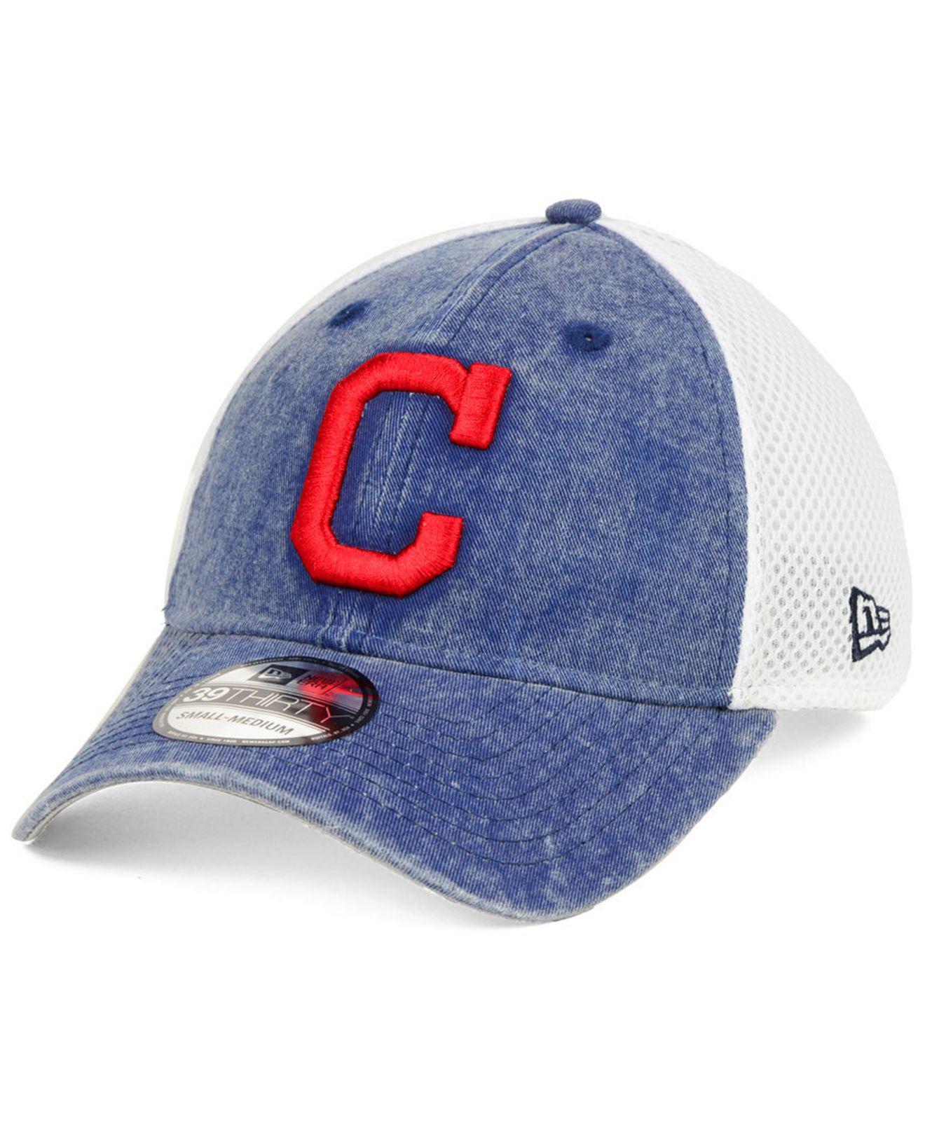 on sale cfd4d e6d0b KTZ. Men s Blue Cleveland Indians Hooge Neo 39thirty Cap