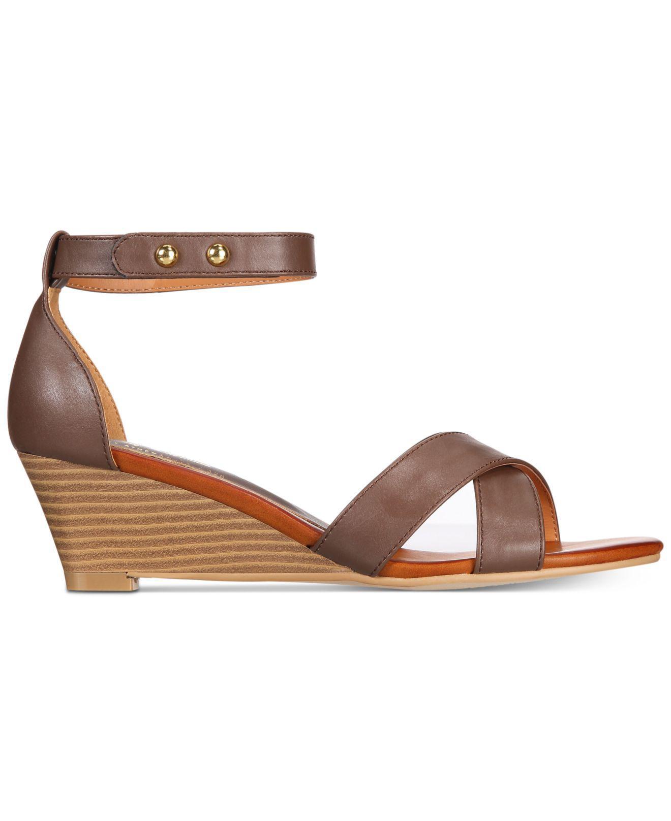 51bb2f6bcd5f Lyst - Callisto Kallie Wedge Sandals in Brown