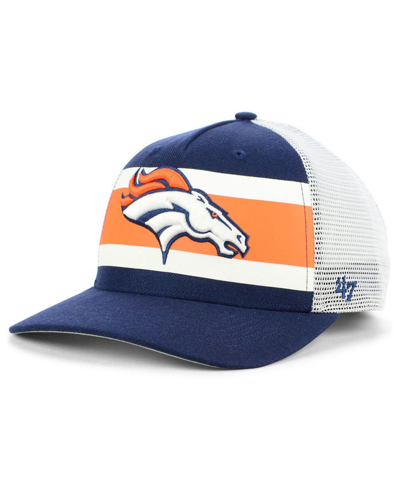 29ca744d77383 Lyst - 47 Brand Denver Broncos Team Stripe Mvp Cap in Blue for Men