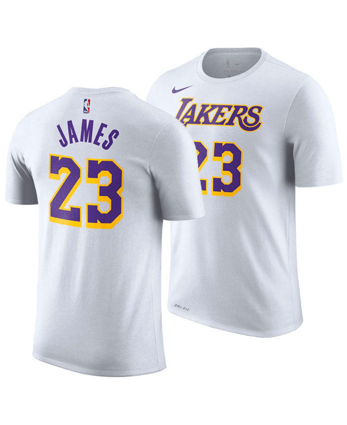 Nike - White Lebron James Los Angeles Lakers Icon Player T-shirt for Men -.  View fullscreen 0885eacb3